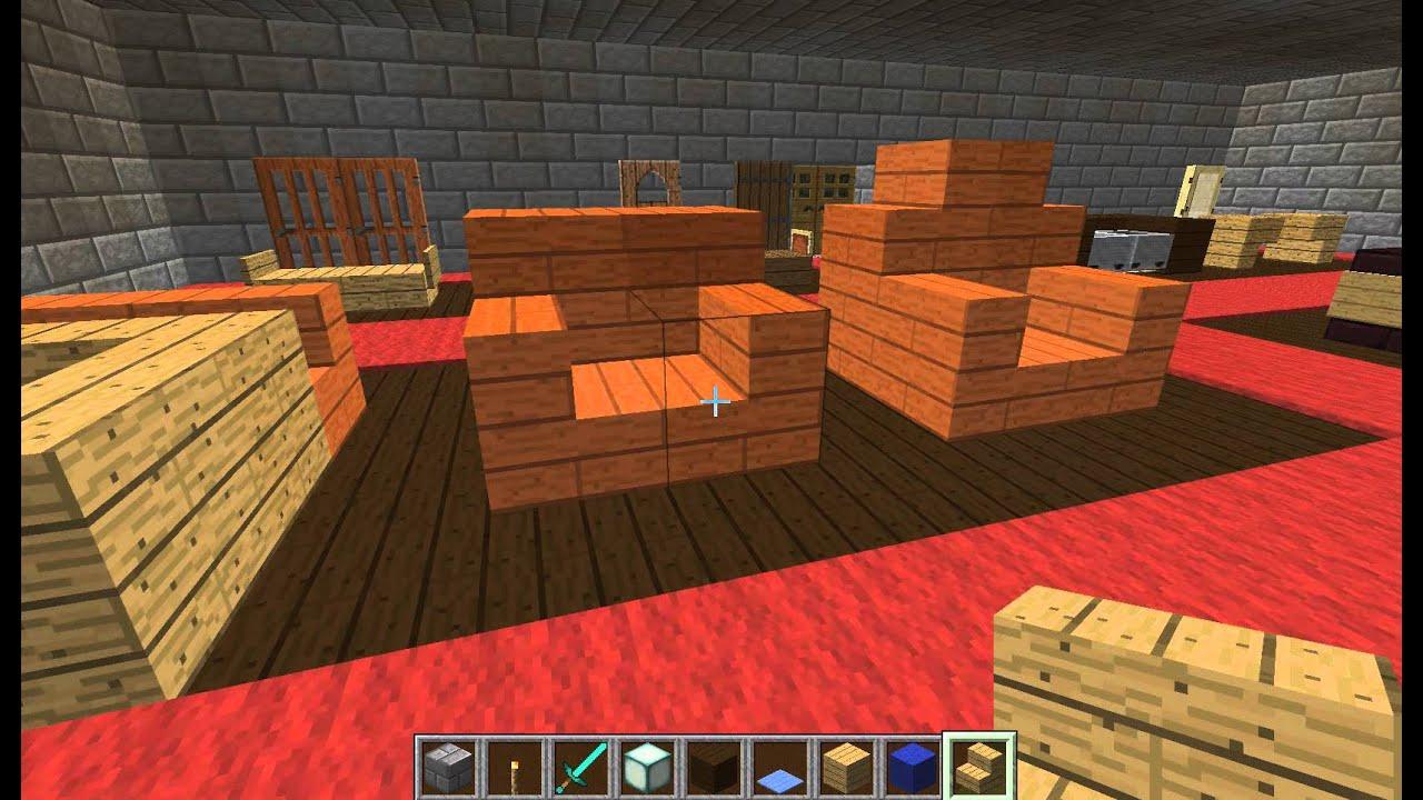 Minecraft - Petit Guide Pour Architecte Minecraftien - Ep11 - Siège,  Fauteuil Et Canapé concernant Canape Minecraft