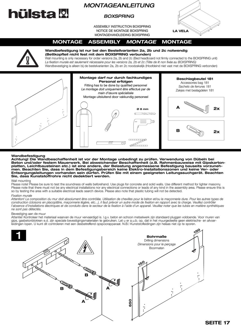 Montageanleitung Assembly Instruction Notice De Montage ... avec Notice Montage