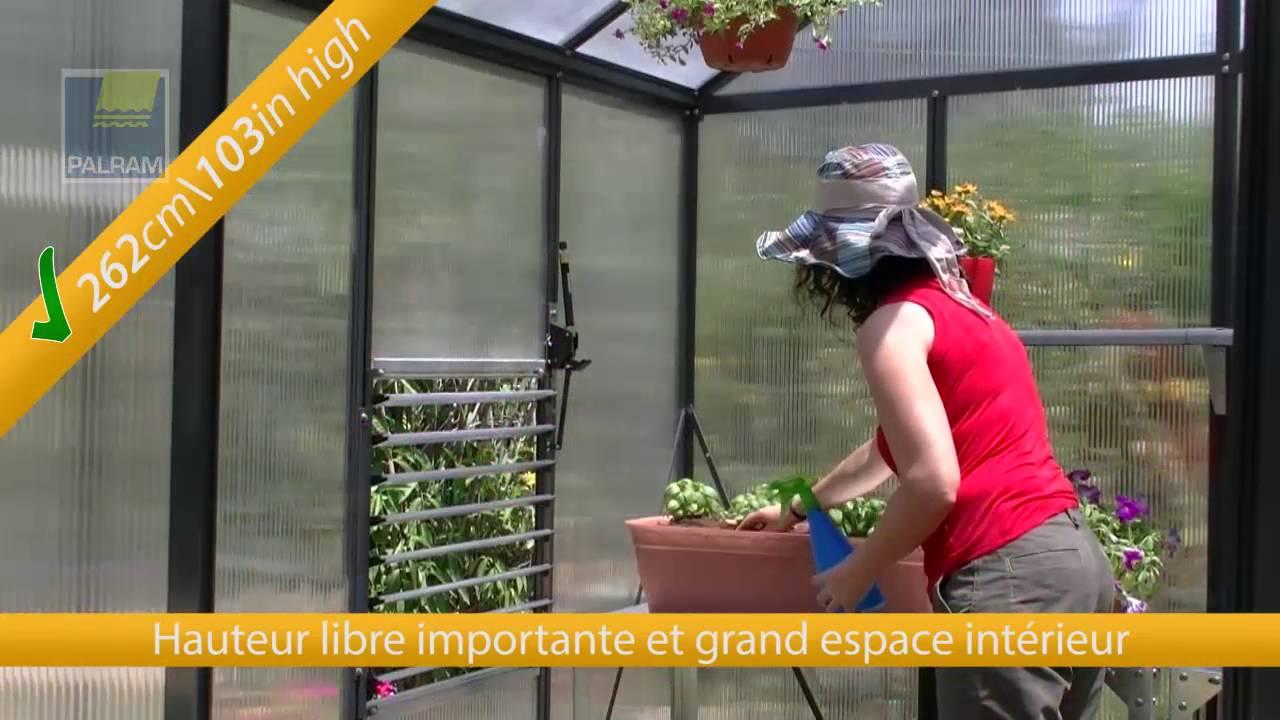 Oogarden - Serre De Jardin Polycarbonate 6M² - Premium Glory Anthracite  Palram à Serre Polycarbonate Oogarden