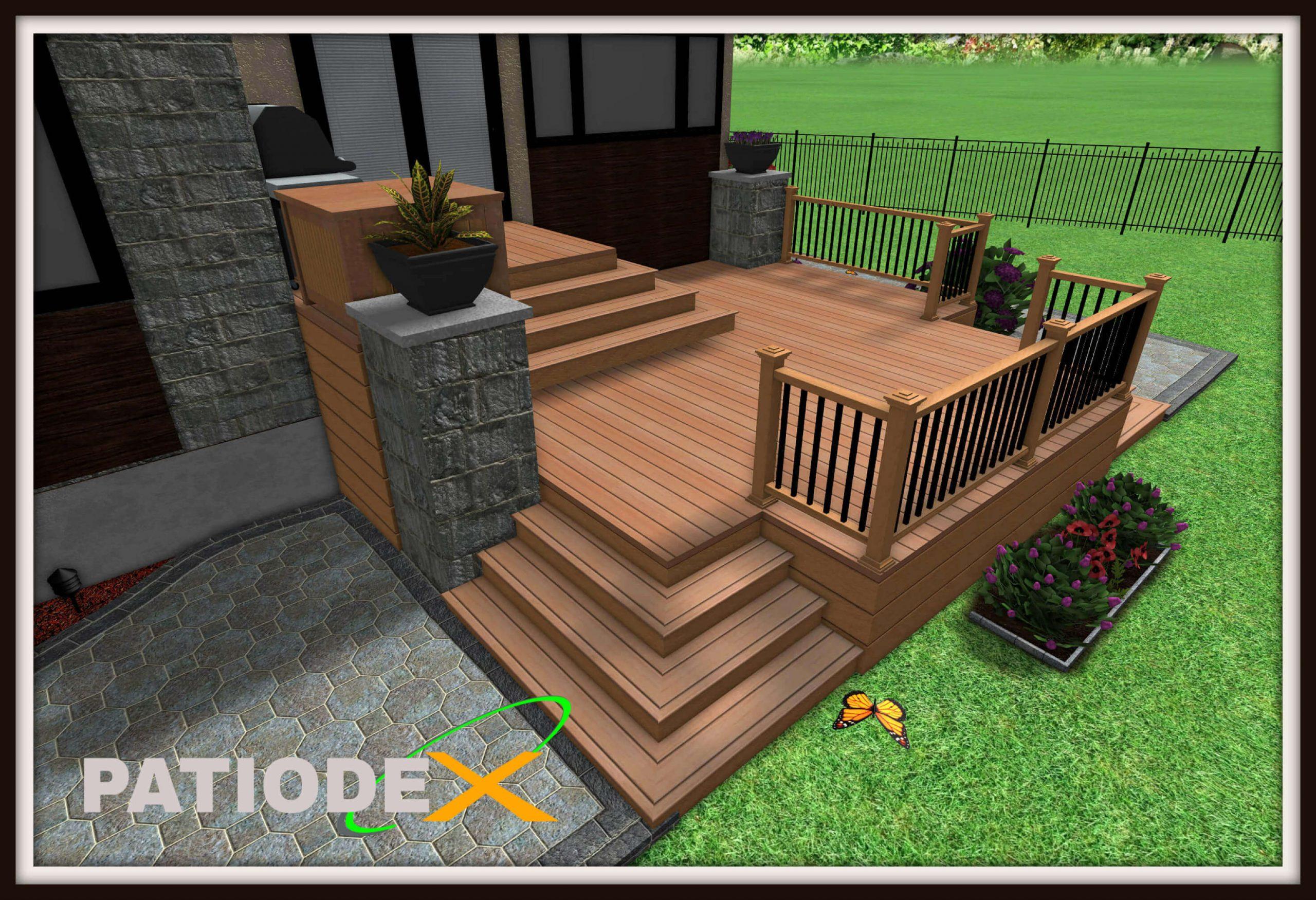 Patio En Bois Design Plan Modele Idee Piscine dedans Modele De Terrasse