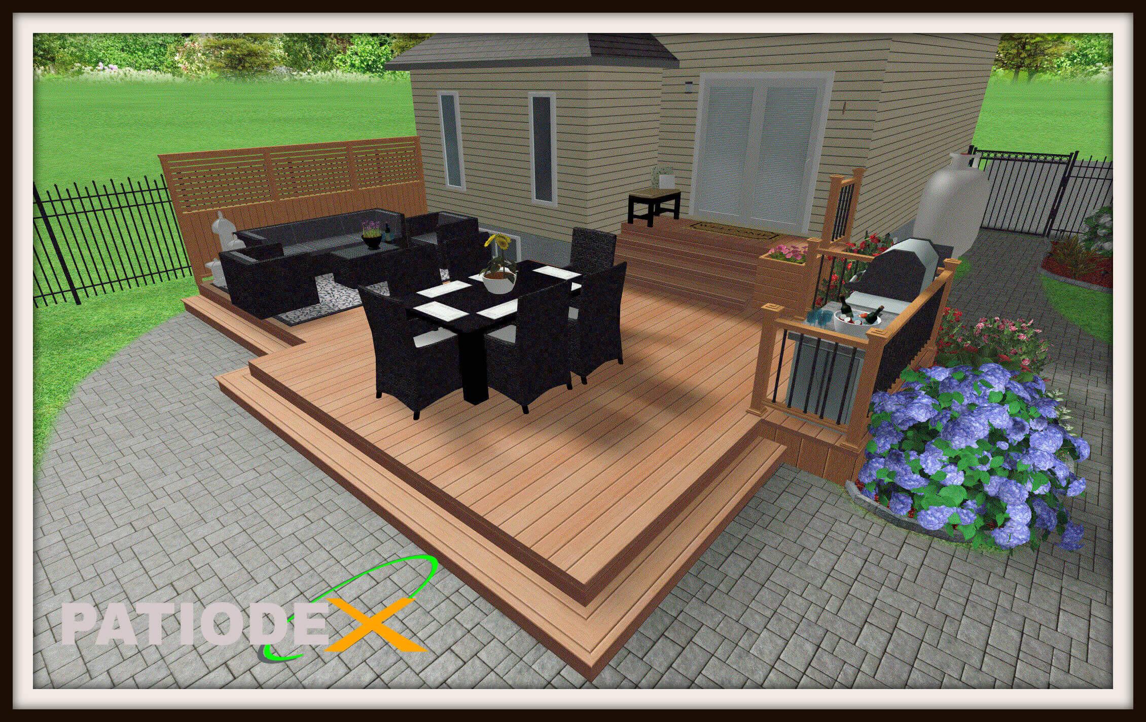 Patio En Bois Design Plan Modele Idee Piscine encequiconcerne Modele De Terrasse