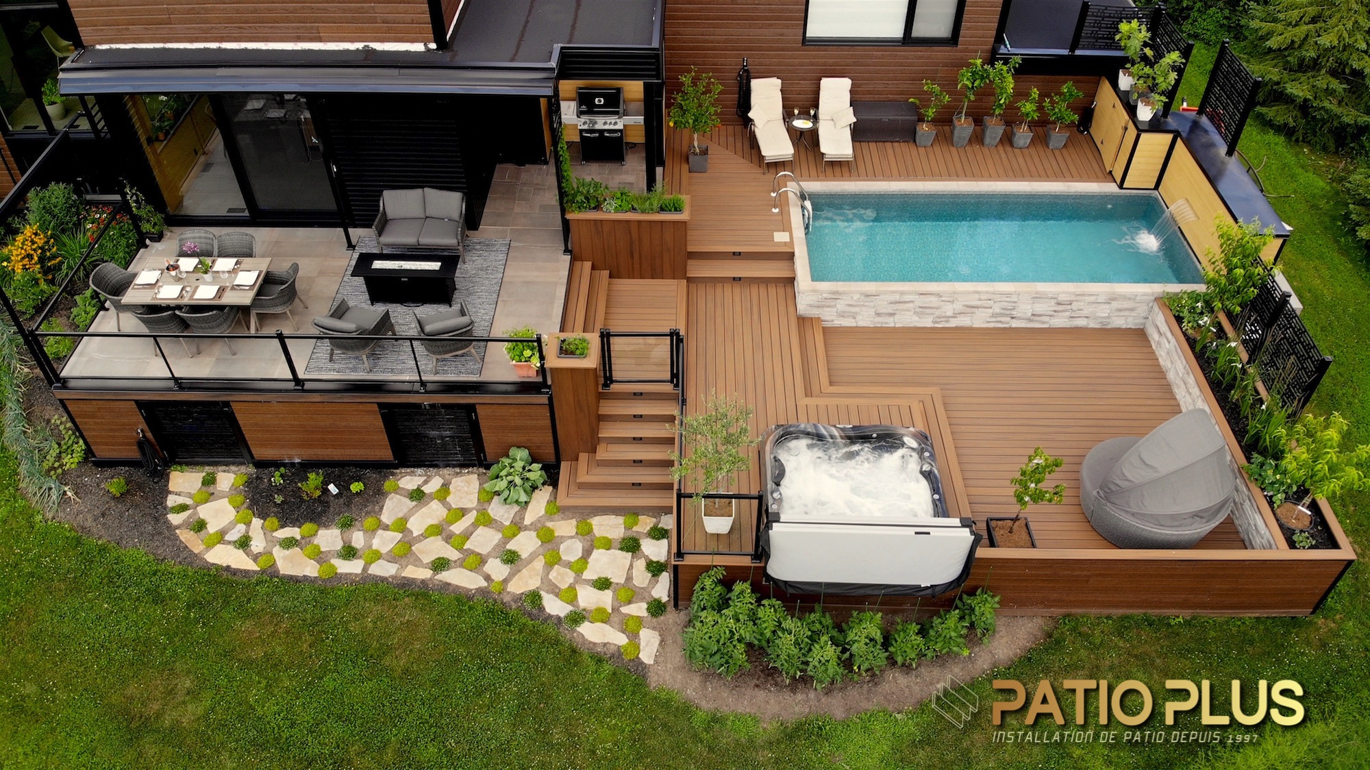 Patio Plus | Installation De Patio Trex & Timbertech | Patio ... avec Modele De Terrasse