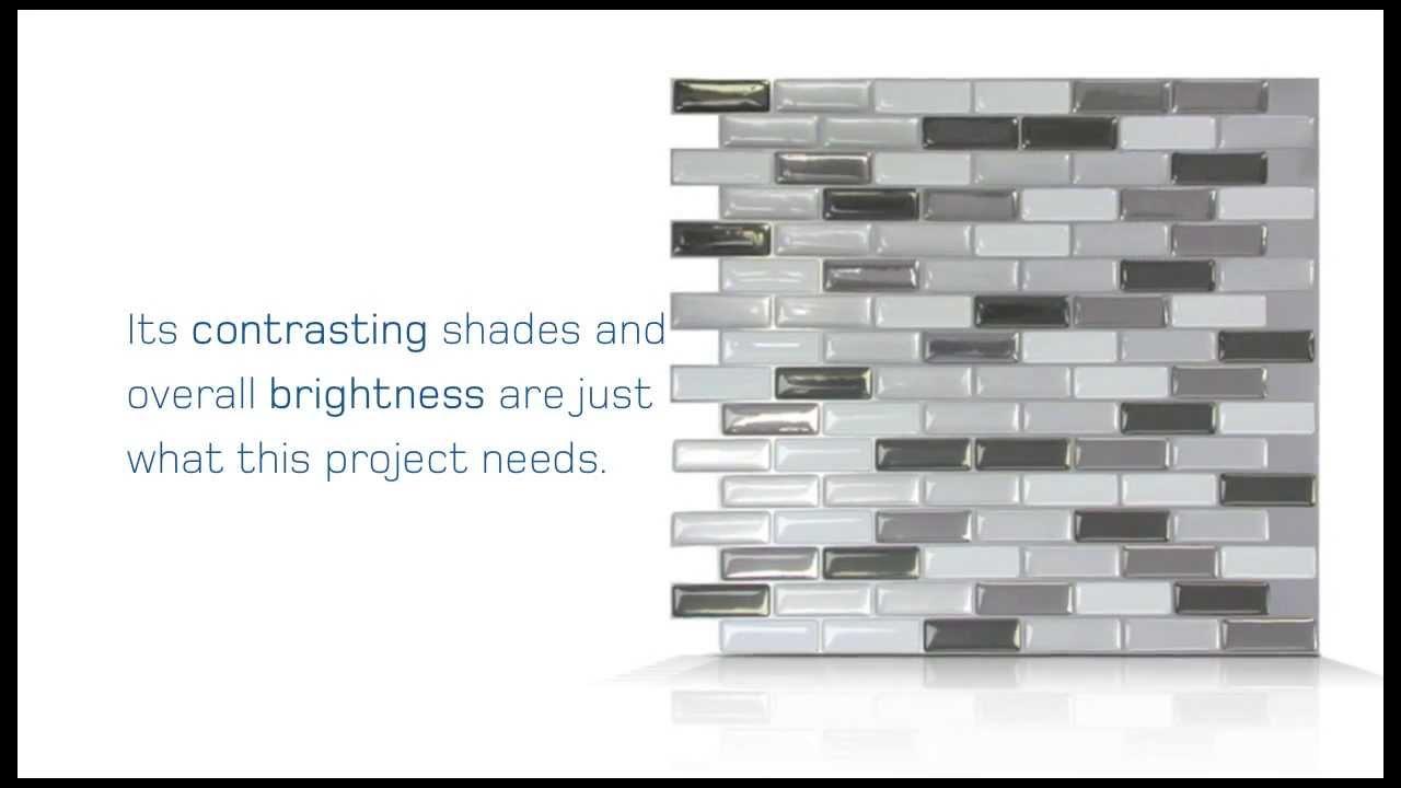 Peel And Stick Tiles Installation In Bathroom concernant Smart Tiles Castorama