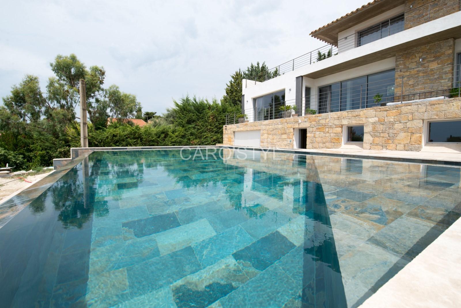 Piscine En Carrelage Green Bali® 30X60 Cm Grand Format, Aux ... à Carrelage Piscine Bali 30X60