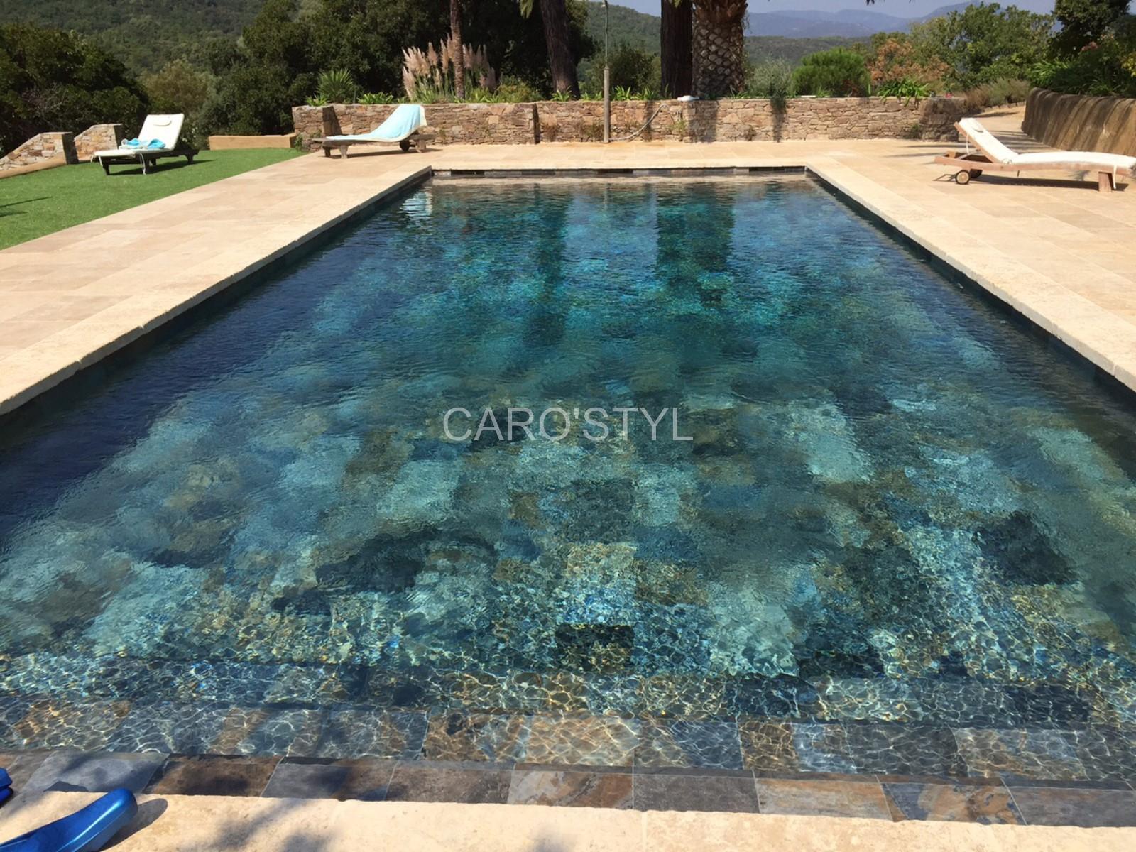 Piscine En Carrelage Green Bali® 30X60 Cm Grand Format, Aux ... dedans Carrelage Piscine Bali 30X60