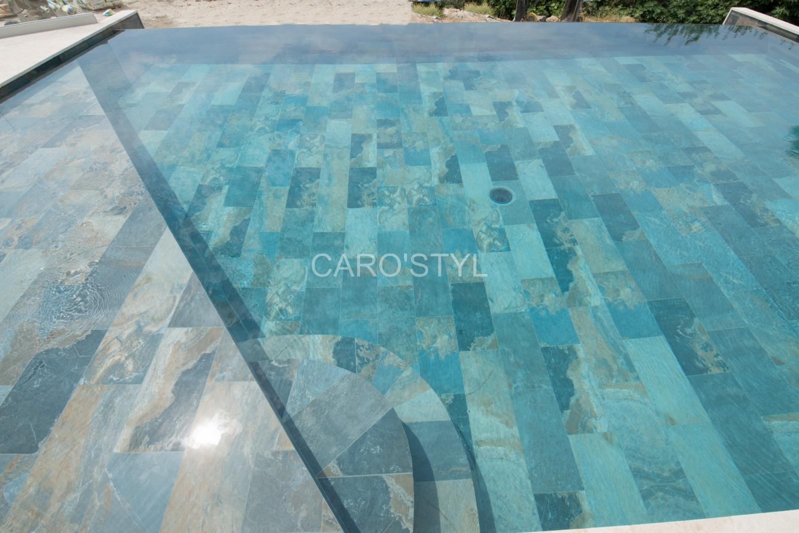 Piscine En Carrelage Green Bali® 30X60 Cm Grand Format, Aux ... intérieur Carrelage Piscine Bali 30X60