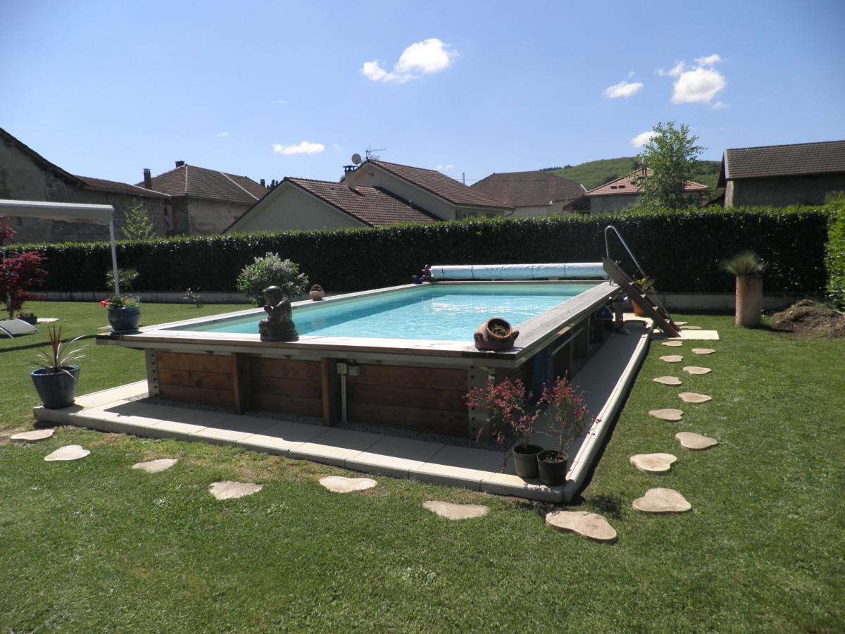 piscine hors sol acier et bois fabrication français 6m x