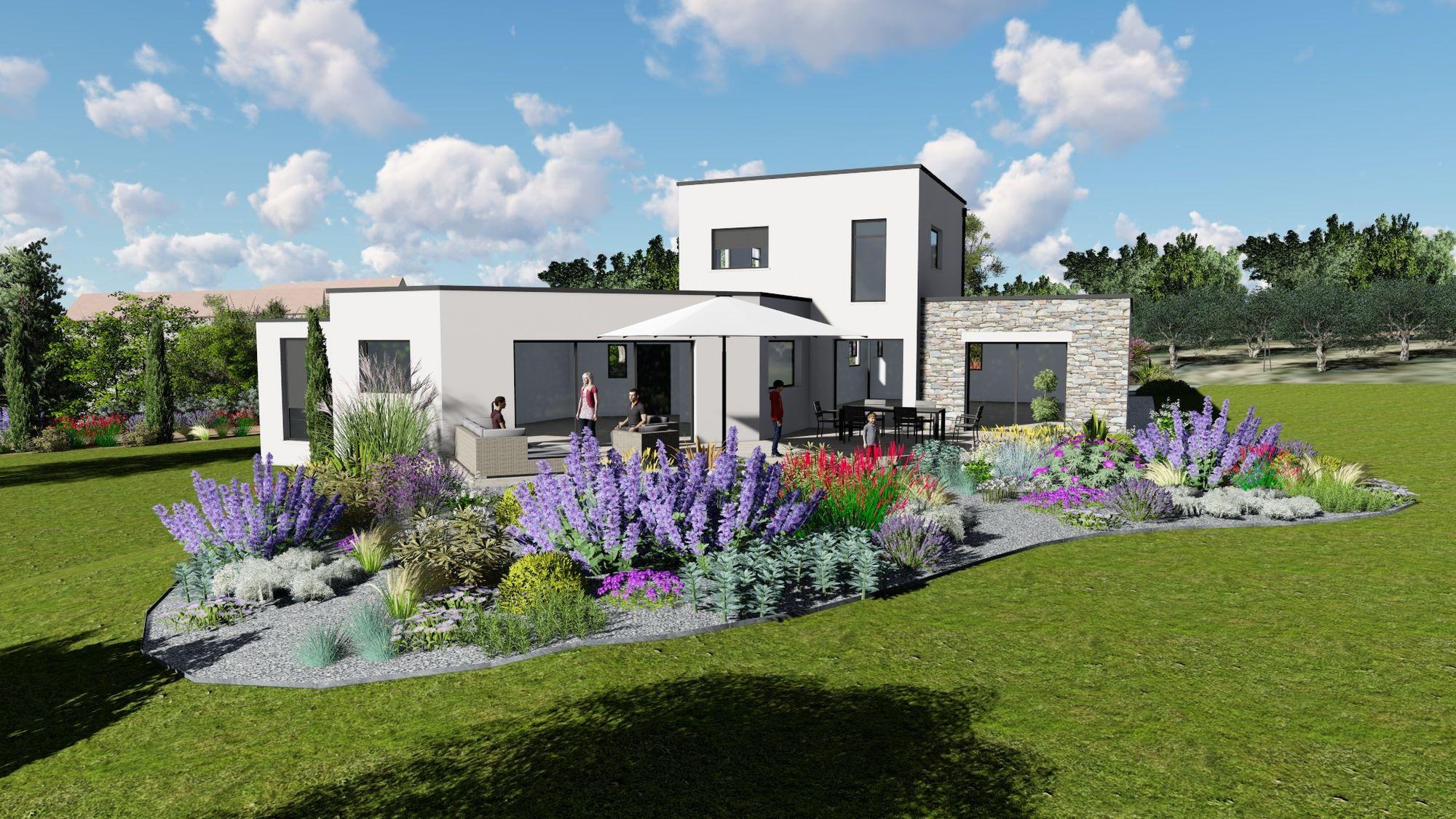 Plan De Jardin En 3D : Découvrez Votre Futur Espace De Vie ... concernant Plan De Jardin 3D