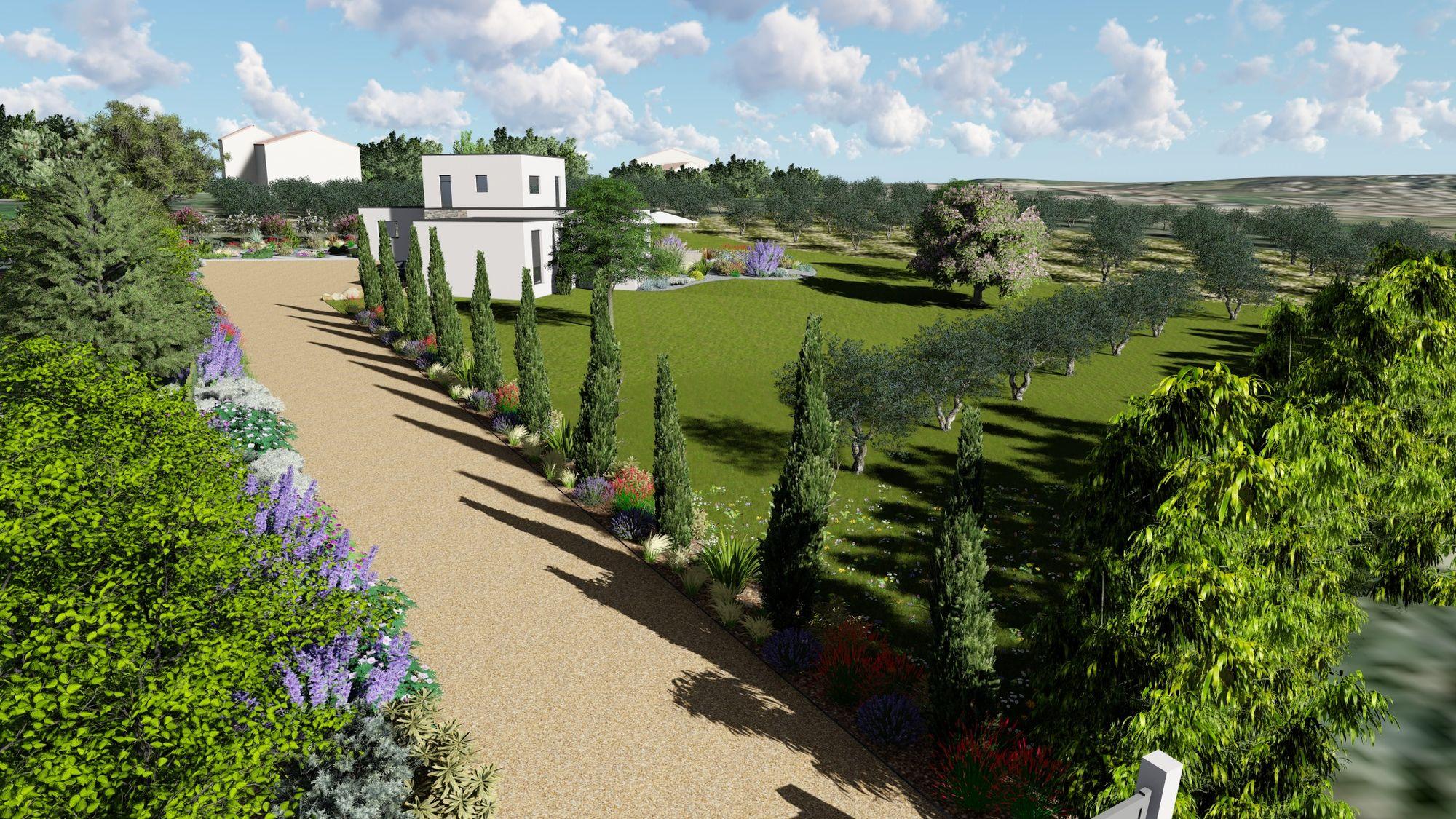 Plan De Jardin En 3D : Découvrez Votre Futur Espace De Vie ... pour Plan De Jardin 3D