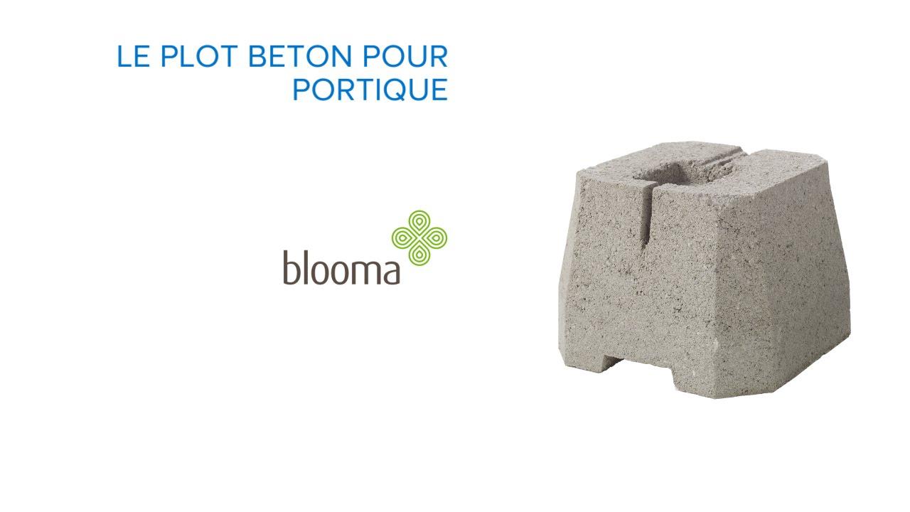 Plot Béton Pour Portique Blooma (676172) Castorama serapportantà Plot Terrasse Blooma