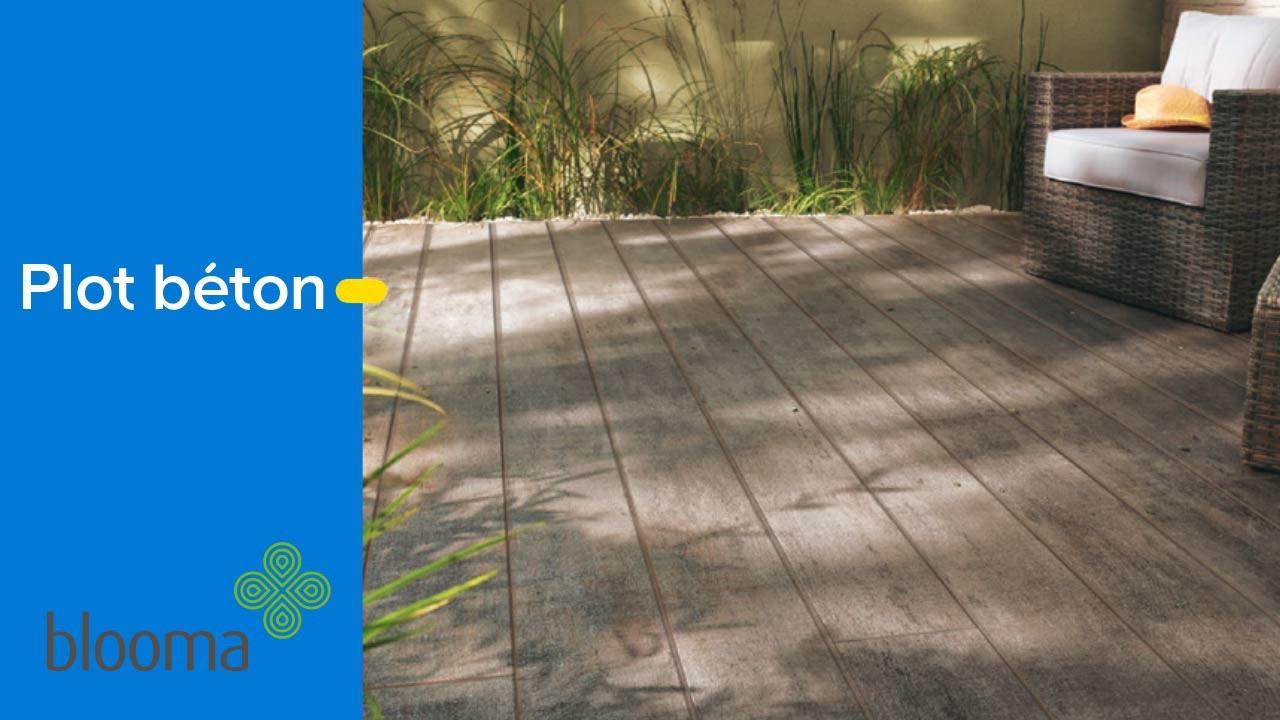 Plot En Béton Pour Terrasse - Castorama à Dalle Stabilisatrice Pour Plot À Vérin Blooma