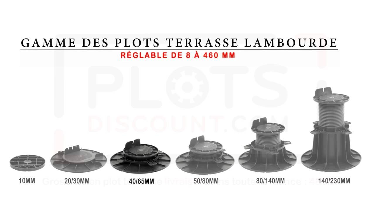 Plot Pour Terrasse Lambourde 40 65 Mm tout Plot Reglable Terrasse Brico Depot