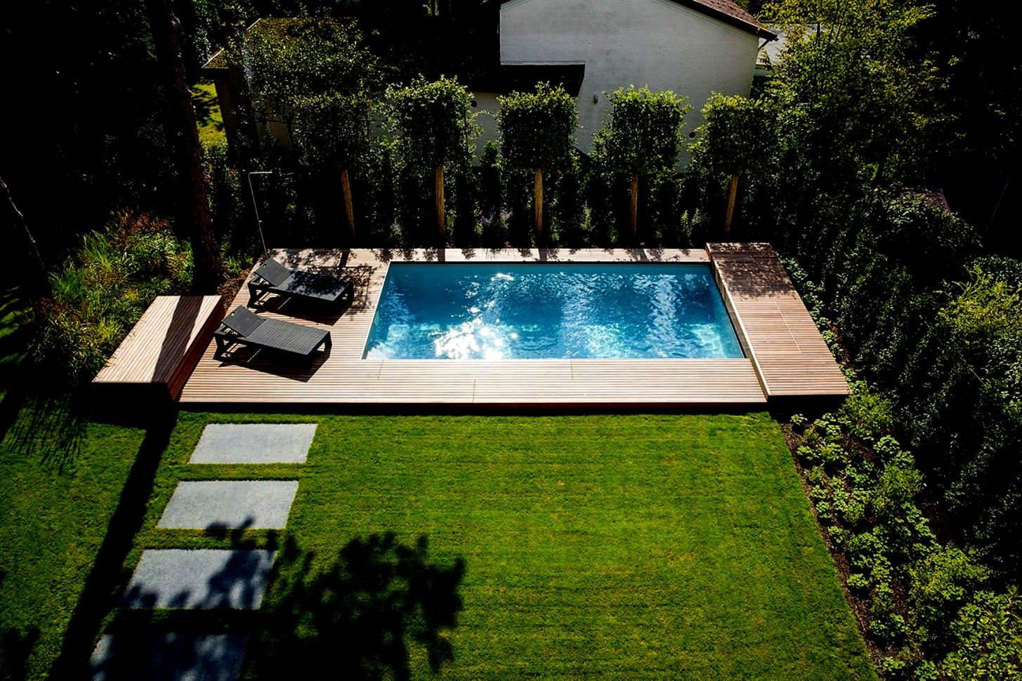 Pool Deko Bilder   Pool Für Kleinen Garten, Garten ... tout Pool House 10M2