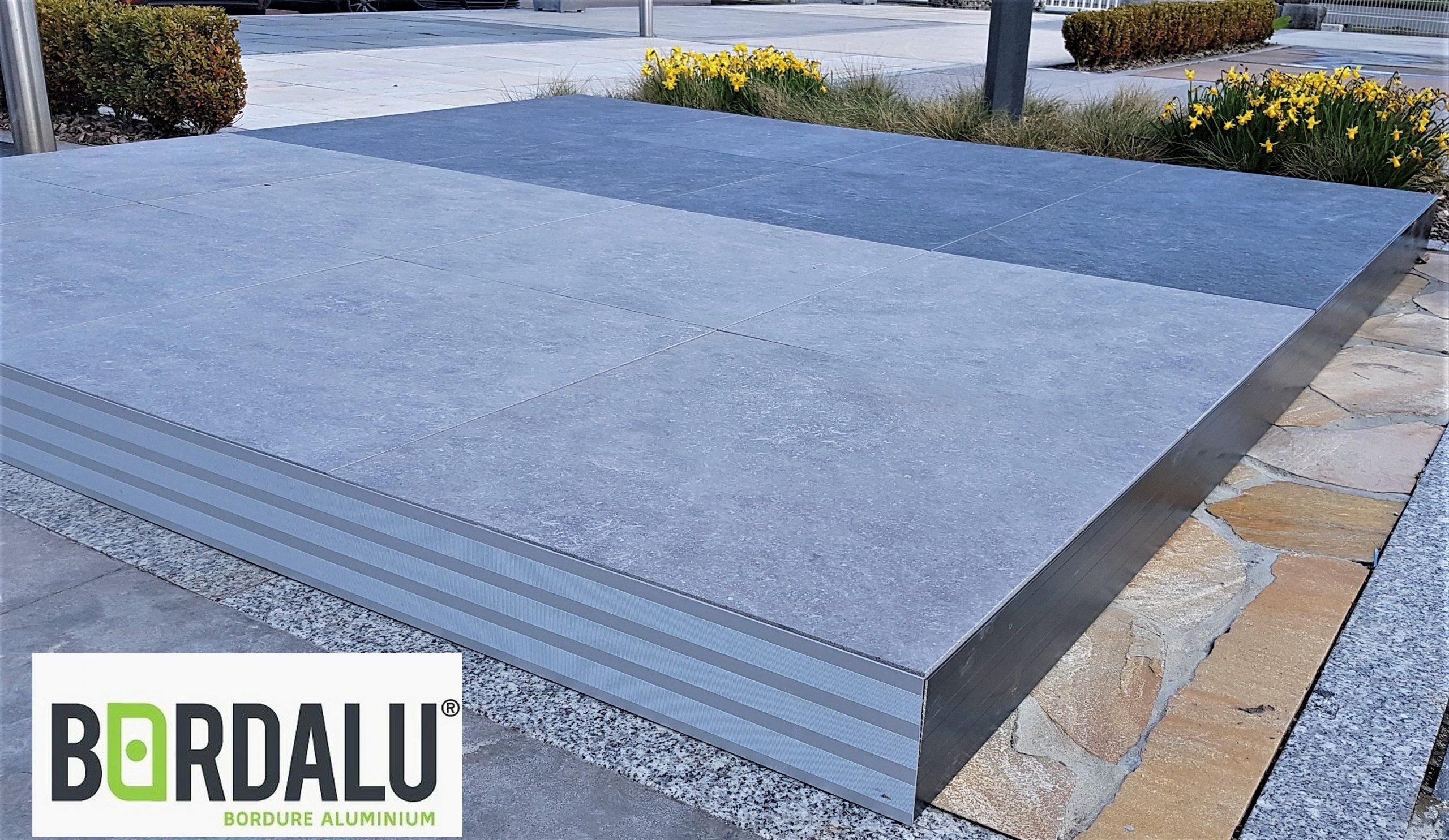 Profil Alu Pour Terrasse Sur Plots   Carrelage Ceramique ... encequiconcerne Finition Bordure Terrasse Dalle Sur Plot