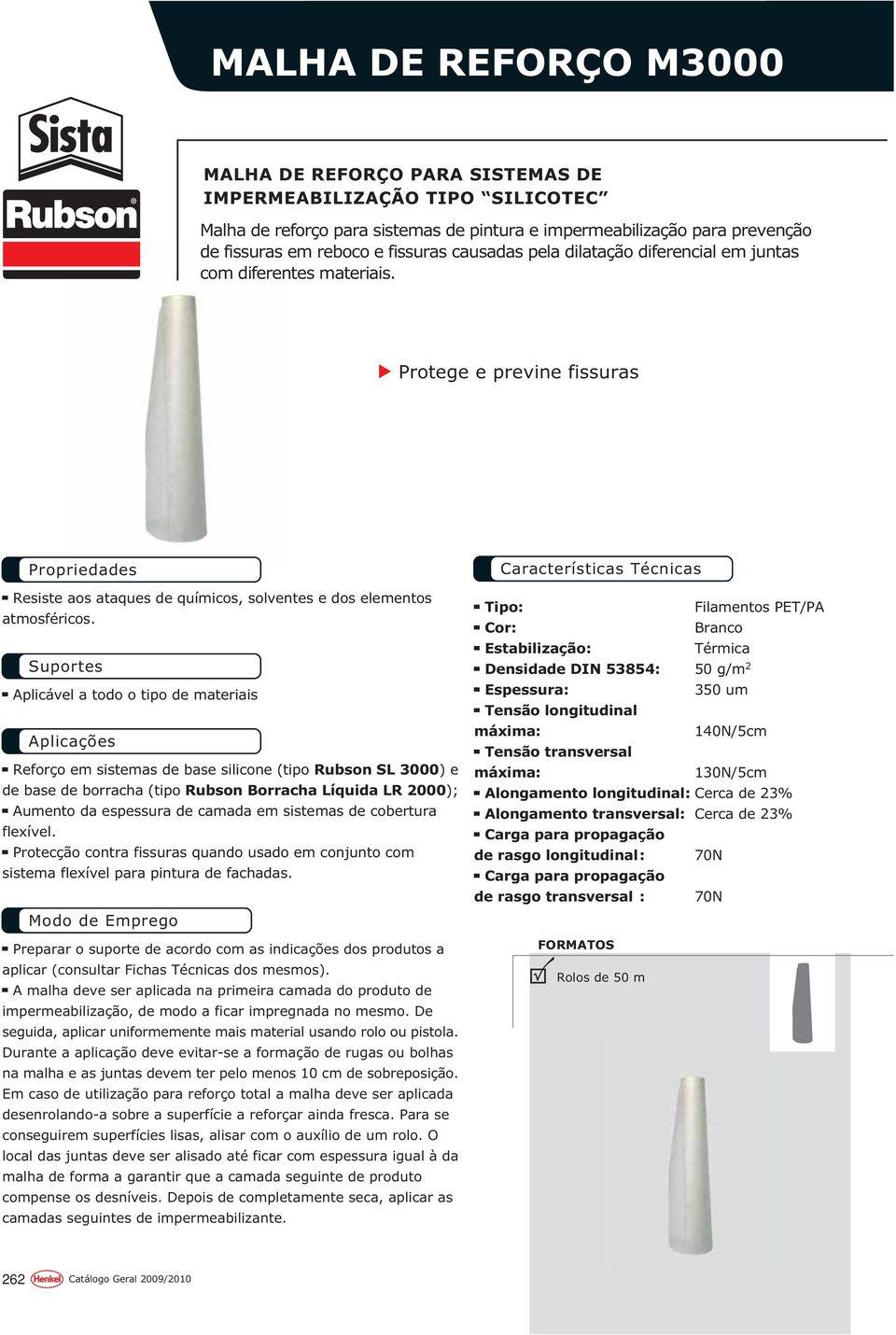 Qualidade Para Profissionais. Impermeabilização - Pdf ... intérieur Rubson Lr 2000