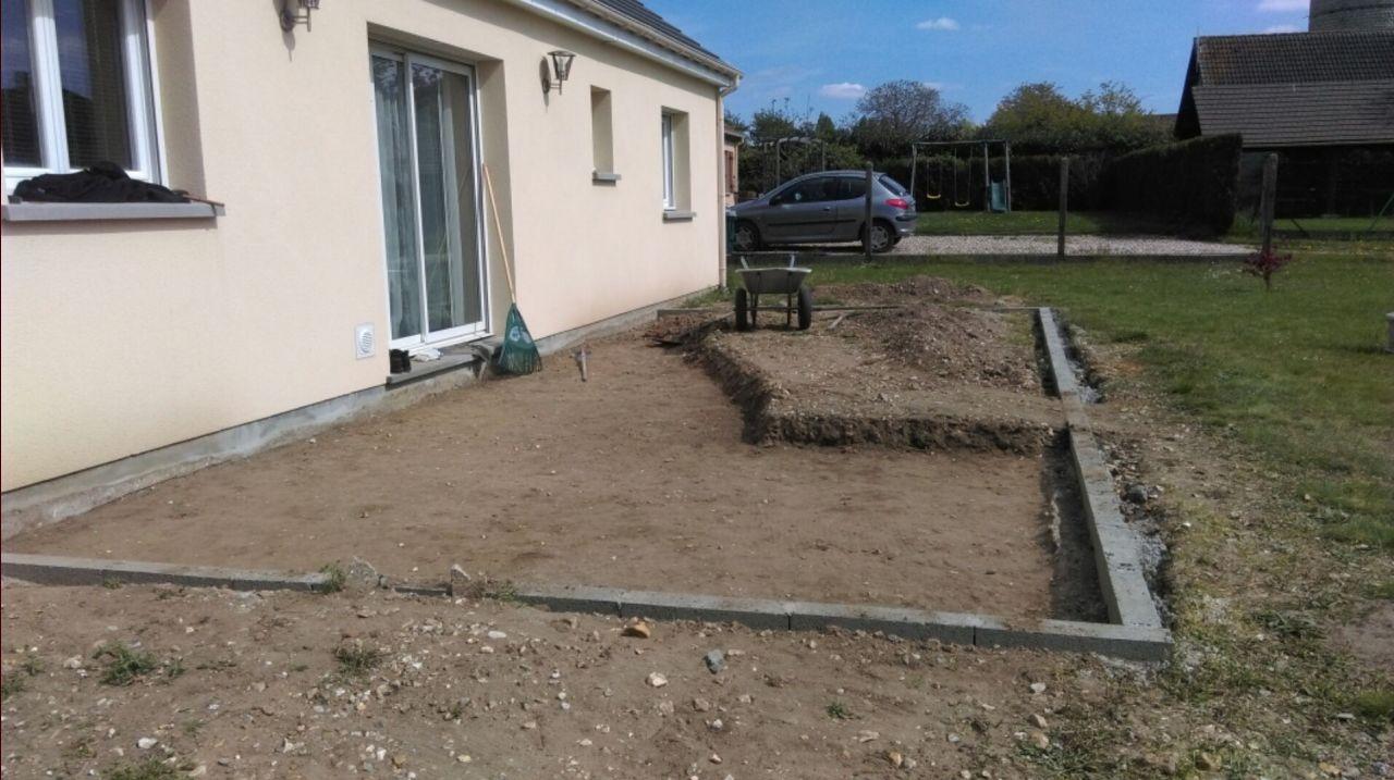 Quelle Préparation Pour Terrasse Avec Plot Sans Dalle Béto ... dedans Dalle Stabilisatrice Beton Pour Plot