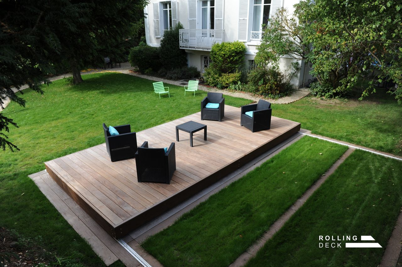 Rolling-Deck - La Couverture-Terrasse Mobile De Piscine Et ... dedans Rolling Deck Prix