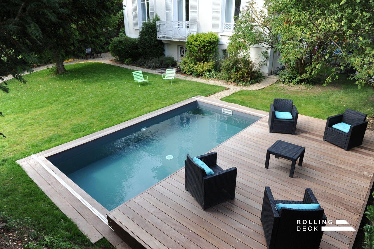 Rolling-Deck - La Couverture-Terrasse Mobile De Piscine Et ... destiné Rolling Deck Prix