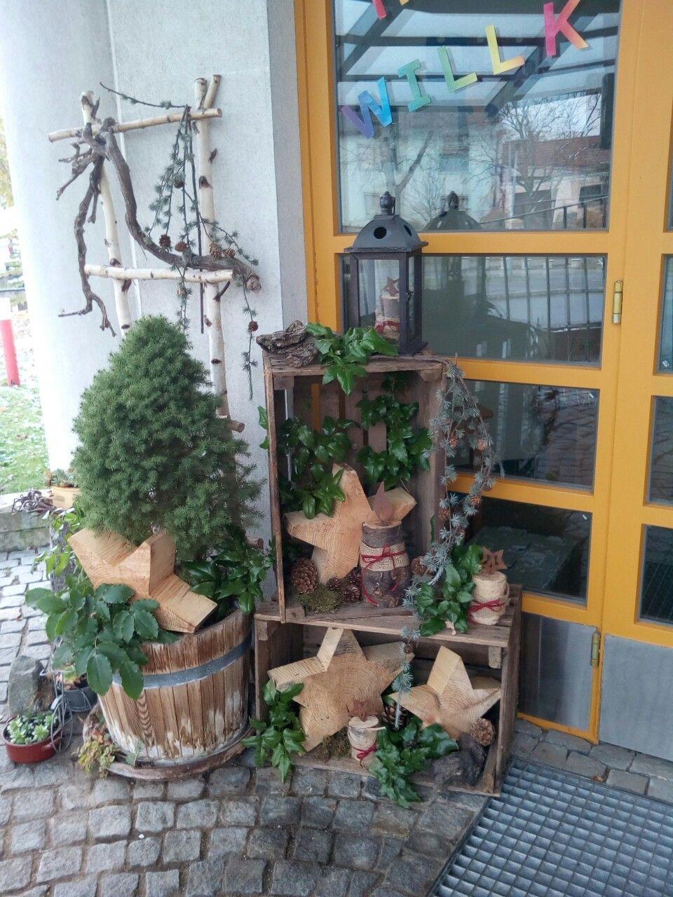 Rustikale Weihnachten - Wintergartenideen - #rustikale ... dedans Decoration Exterieur