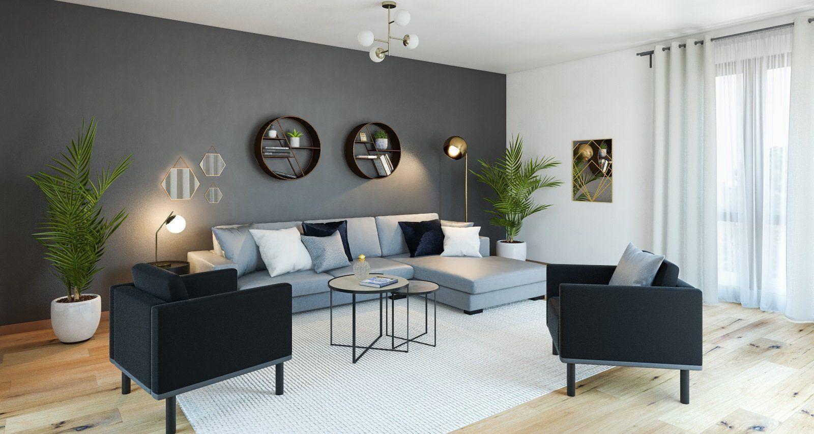 Salon Gris Et Blanc | Idees Conception Jardin