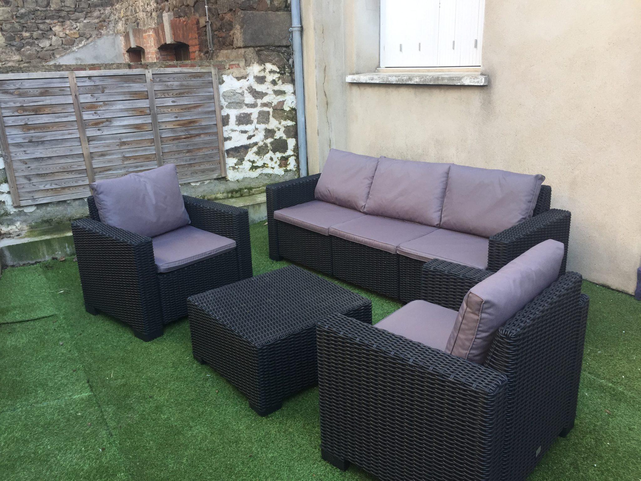 Salon De Jardin 5 Places Allibert pour Salon De Jardin Resine Occasion