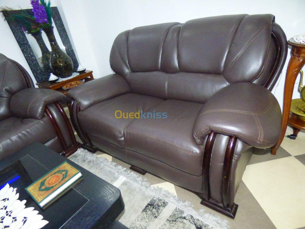 Salon En Simili Cuir ( 7 Places ) Algiers Draria Algeria ... avec Salon Cuir 7 Places