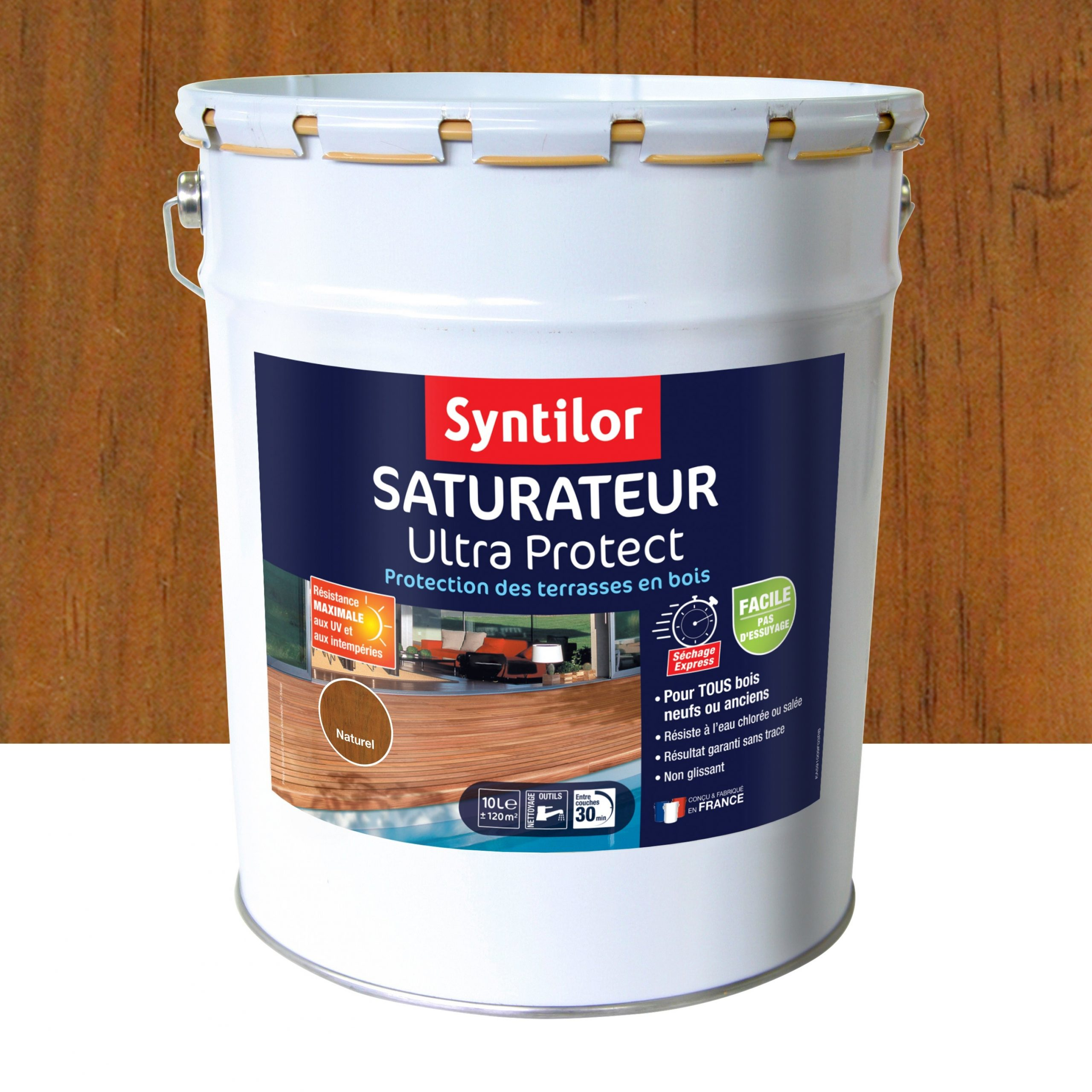 Saturateur Syntilor Ultra Protect 10 L, Naturel dedans Saturateur Luxens Protection Terrasse Bois 5L Naturel