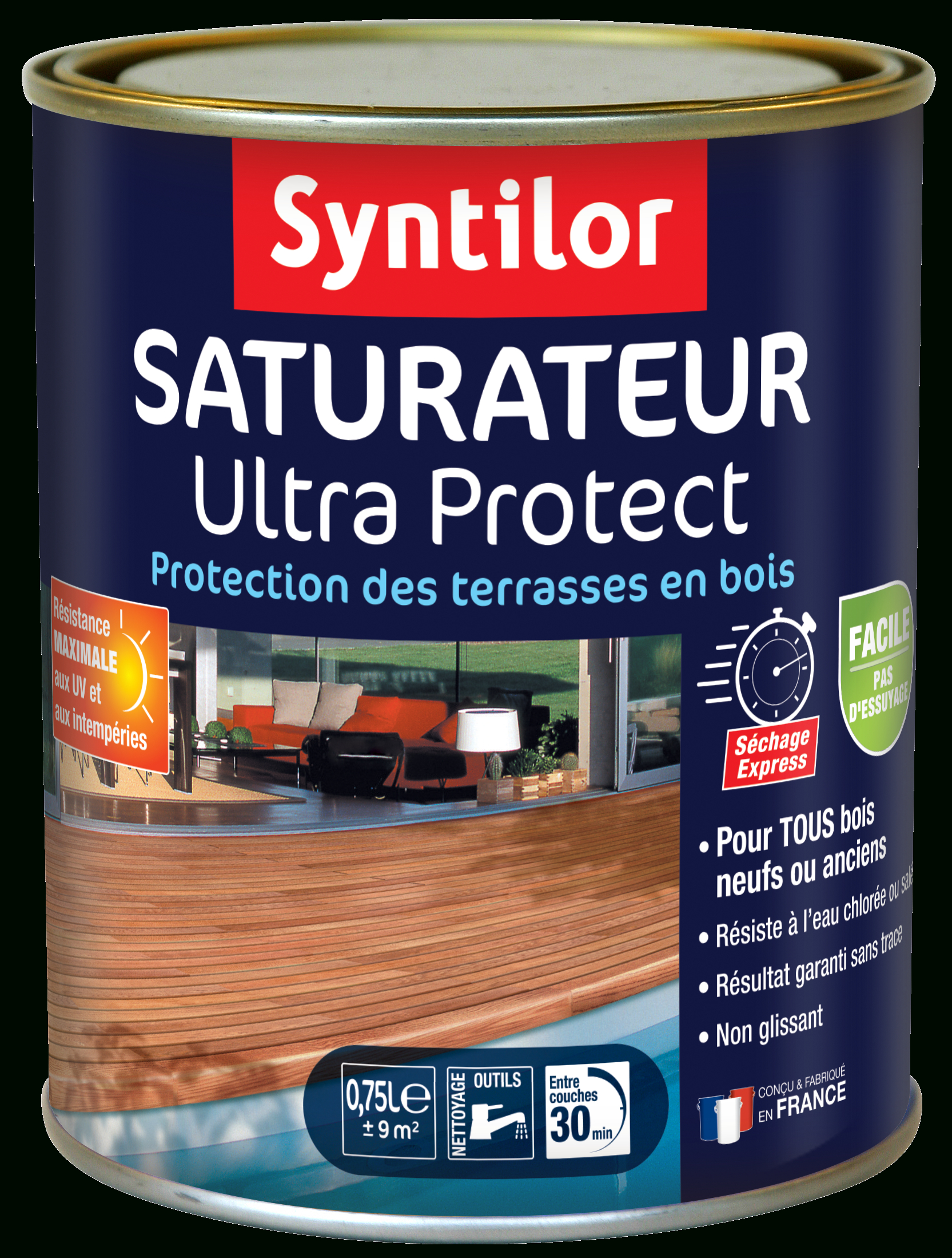 Saturateur Ultra Protect à Saturateur Luxens Protection Terrasse Bois 5L Naturel