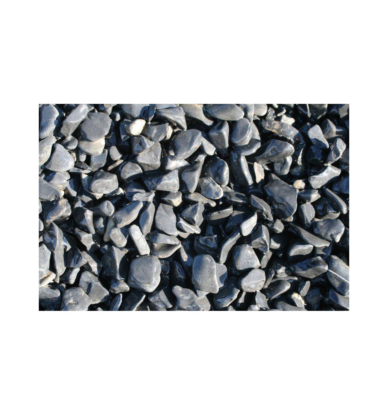 Schwarze Kieselsteine, Naturstein Basaltischen destiné Velestone Avis