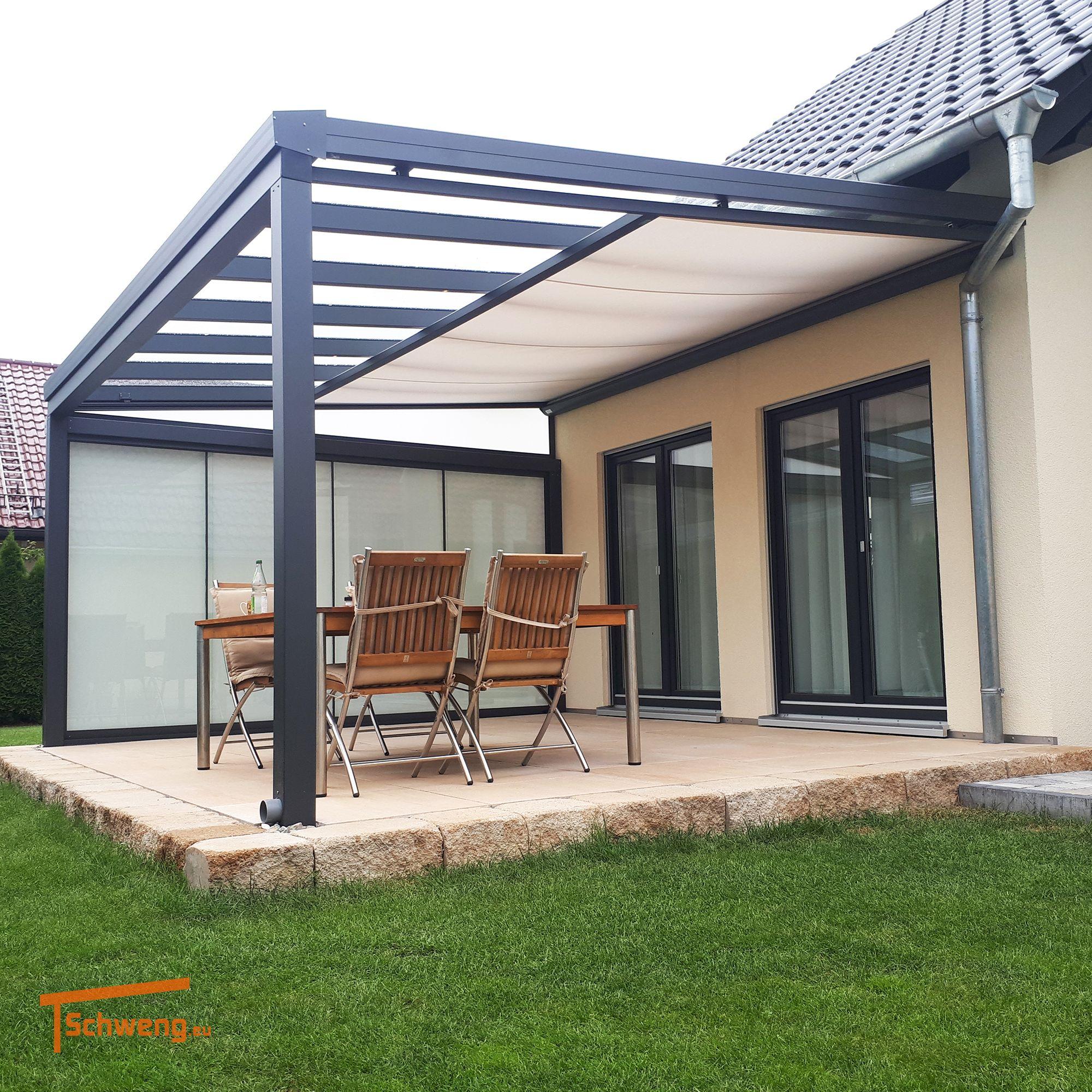 Schweng Terrassenüberdachung Aus Aluminium Mit 8Mm ... avec Pergola Alu Pour Mobil Home