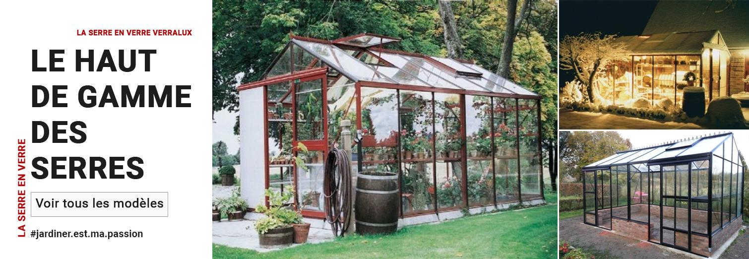 Serre De Jardin, Serre En Verre, Volière Aluminium | Komat destiné Serre Horticole Occasion