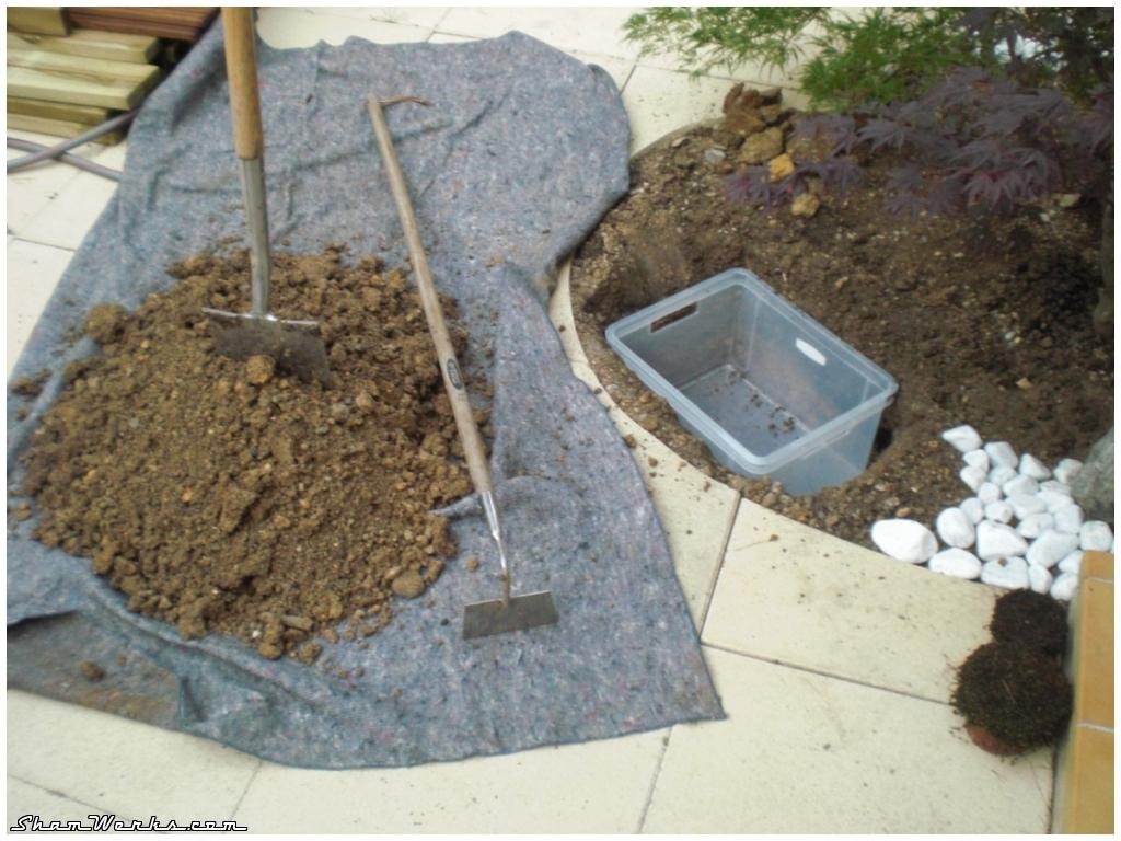 Shamwerks : Terrasse Project - Terrasse Project : Jardin ... concernant Fabriquer Un Tsukubai