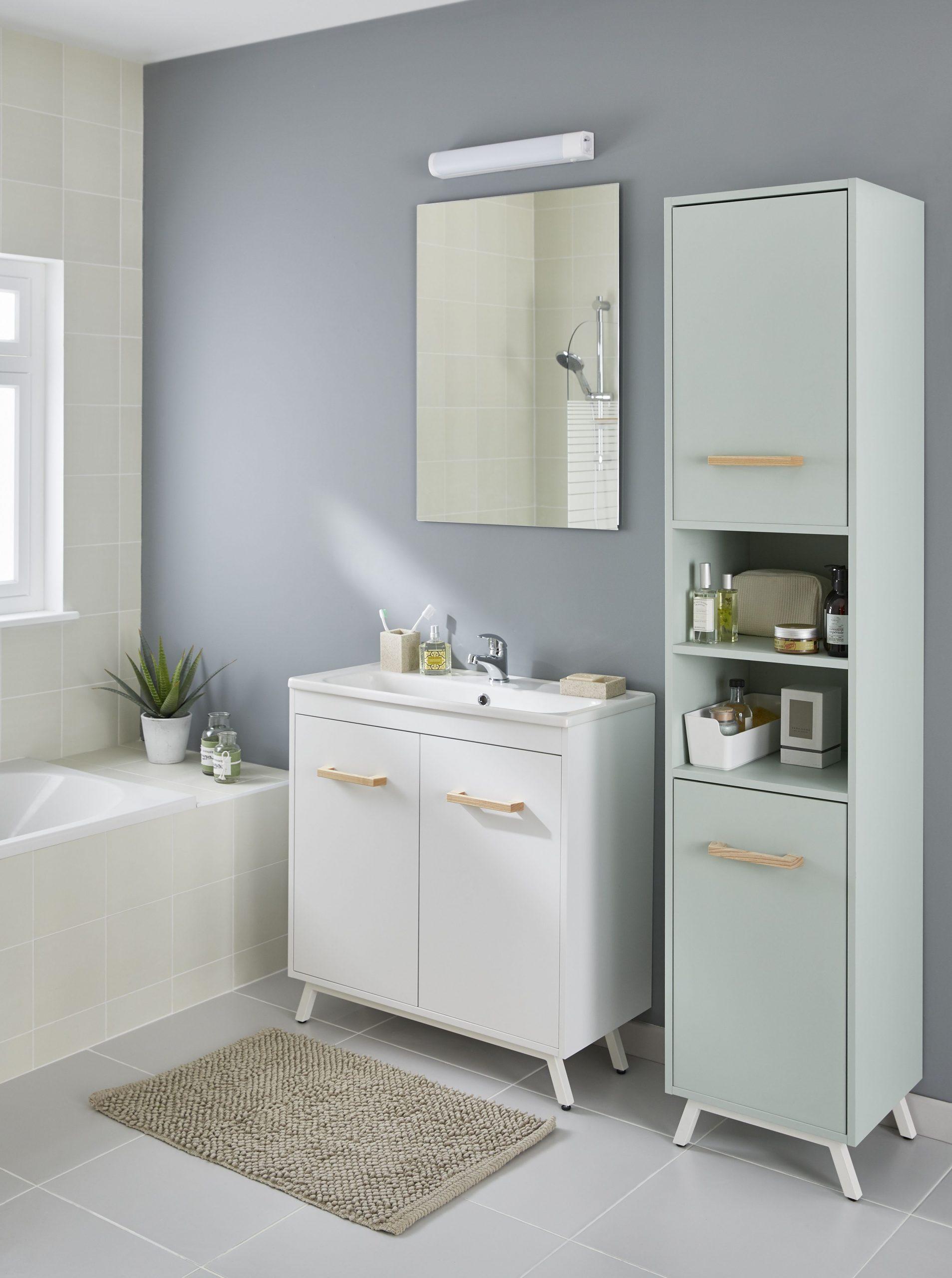 Simple And Beautiful | Bathroom Furniture, Master Bathroom ... intérieur Smart Tiles Castorama