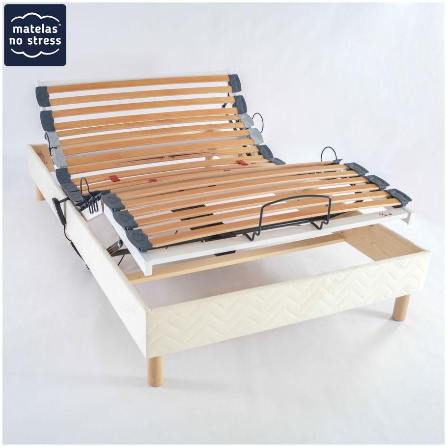 Sommier Relaxation Electrique 120X190 destiné Lit Électrique 140X190 Conforama