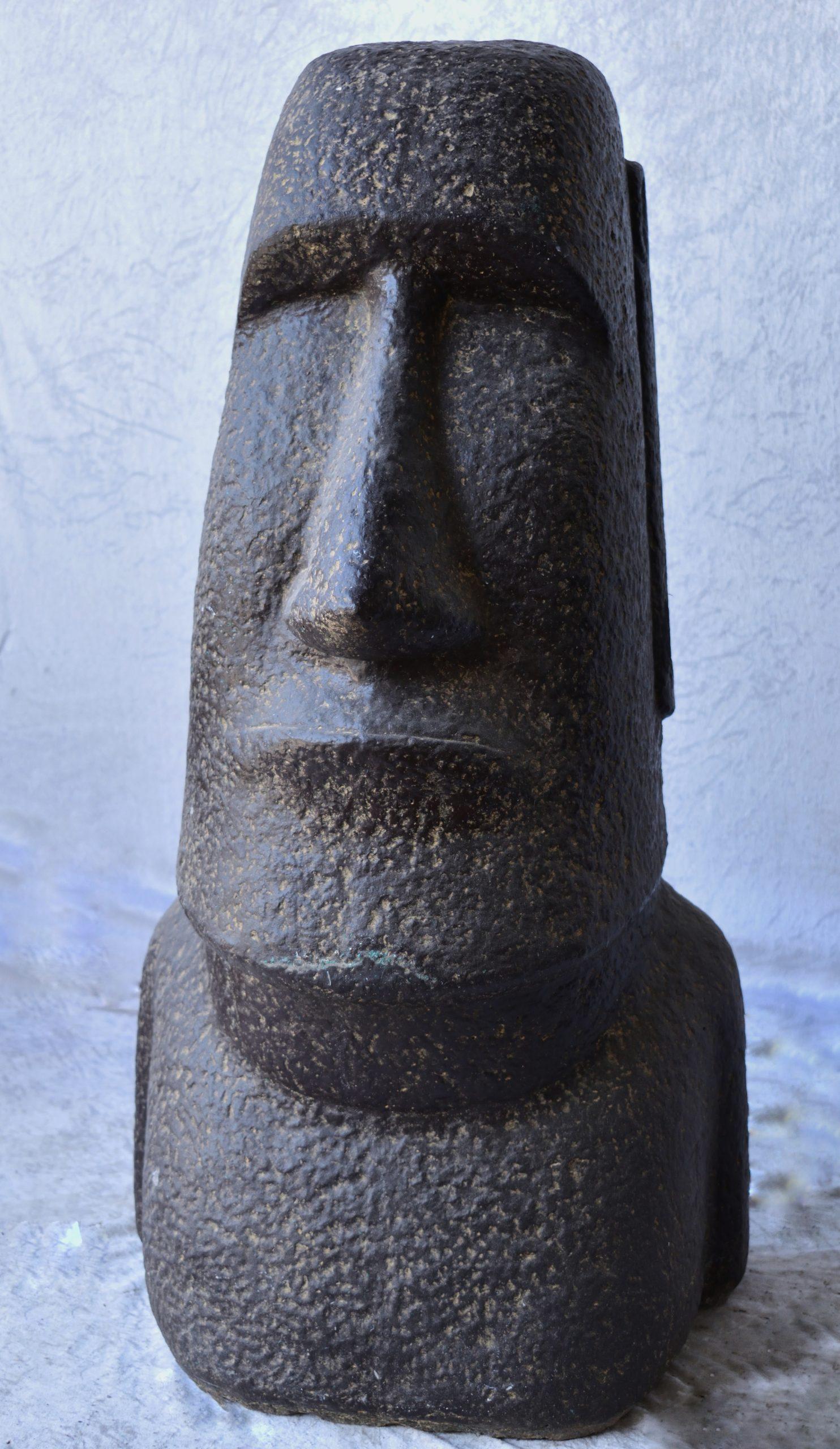 Statue Moäi En Pierre Reconstituée 1M dedans Statue Moaï 1M