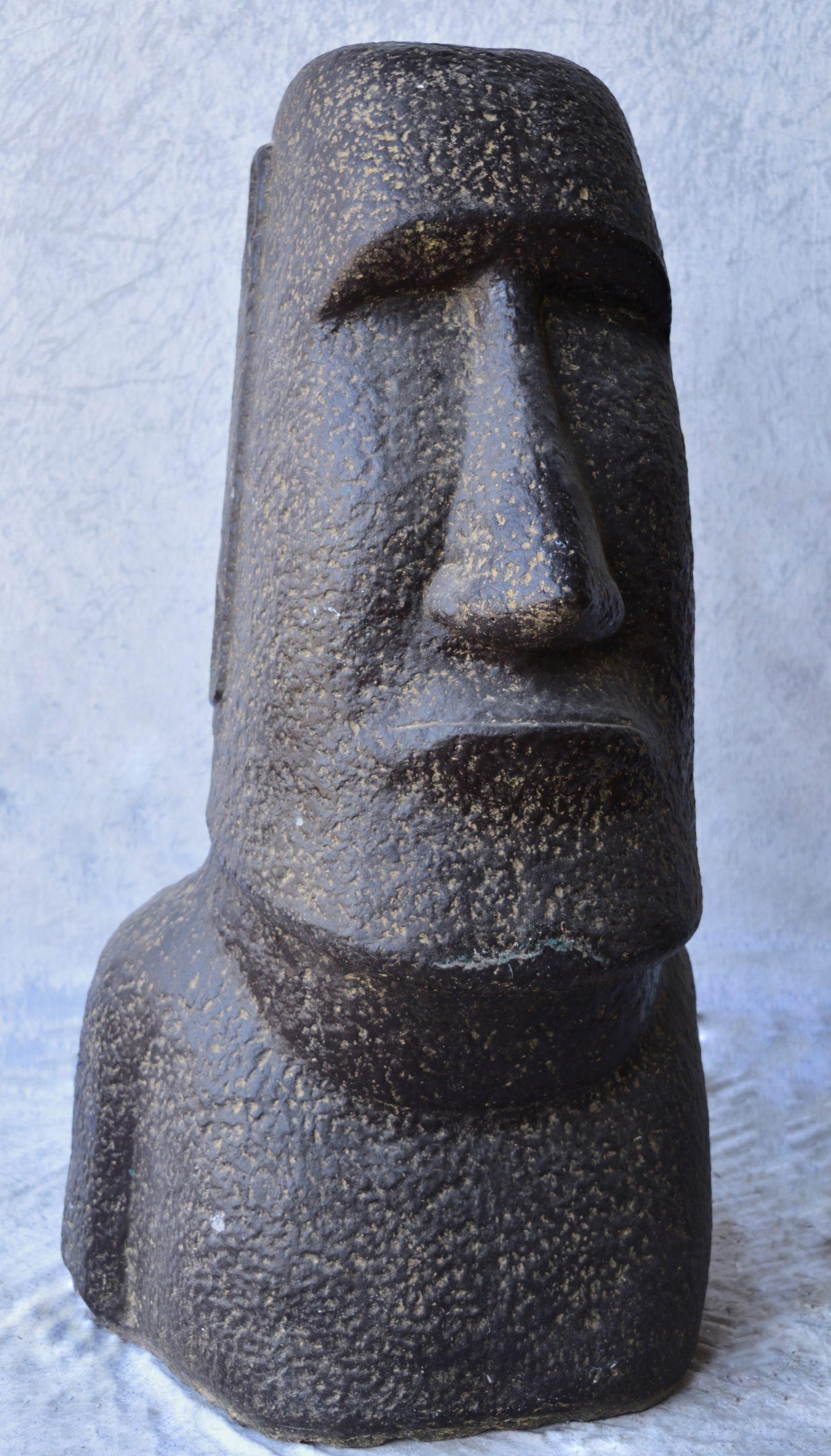 Statue Moäi En Pierre Reconstituée 1M encequiconcerne Statue Moaï 1M