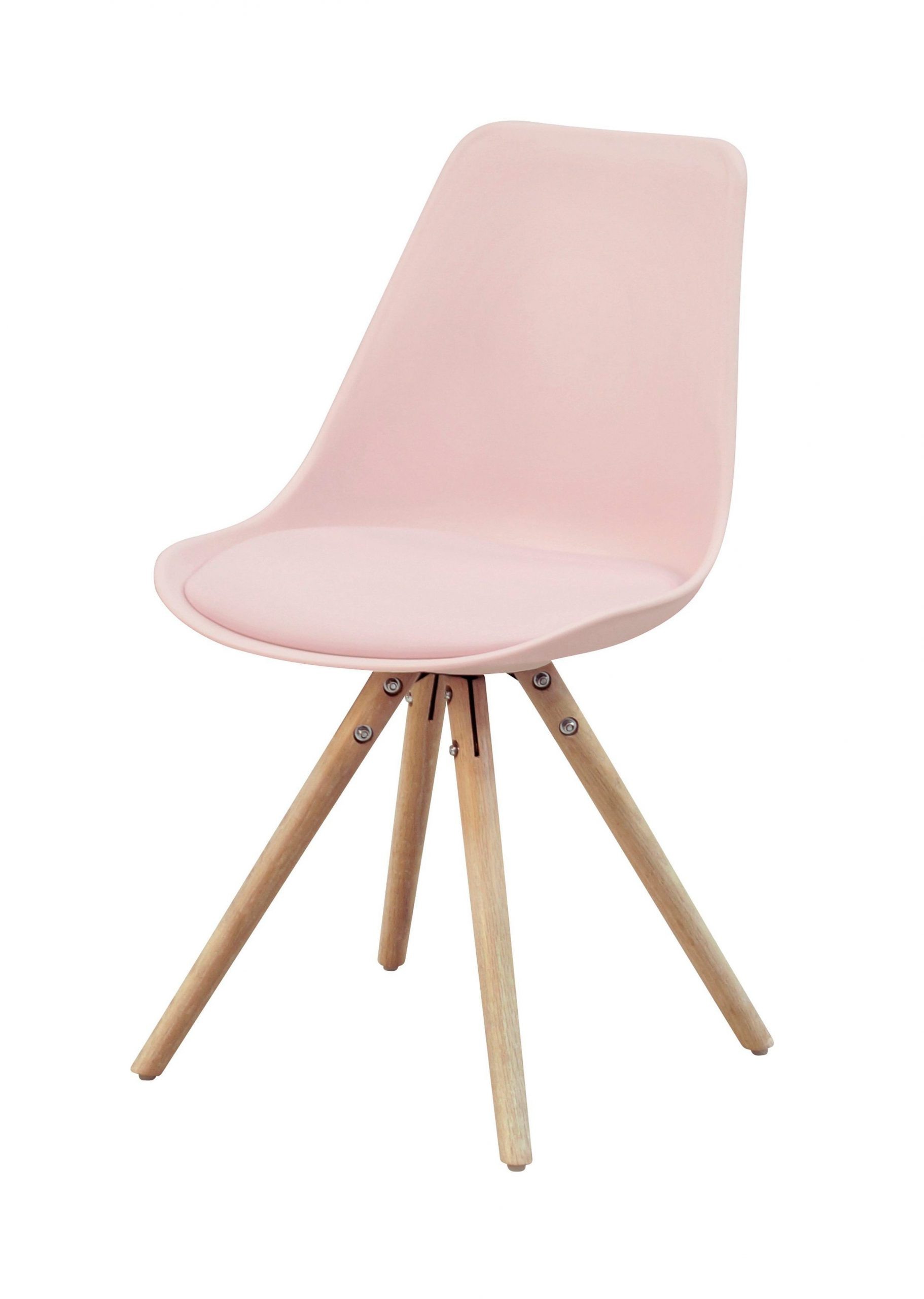 Stuhl Woody Rosa Chaise Oslo Rose Design Scandinave But ... intérieur Chaise But