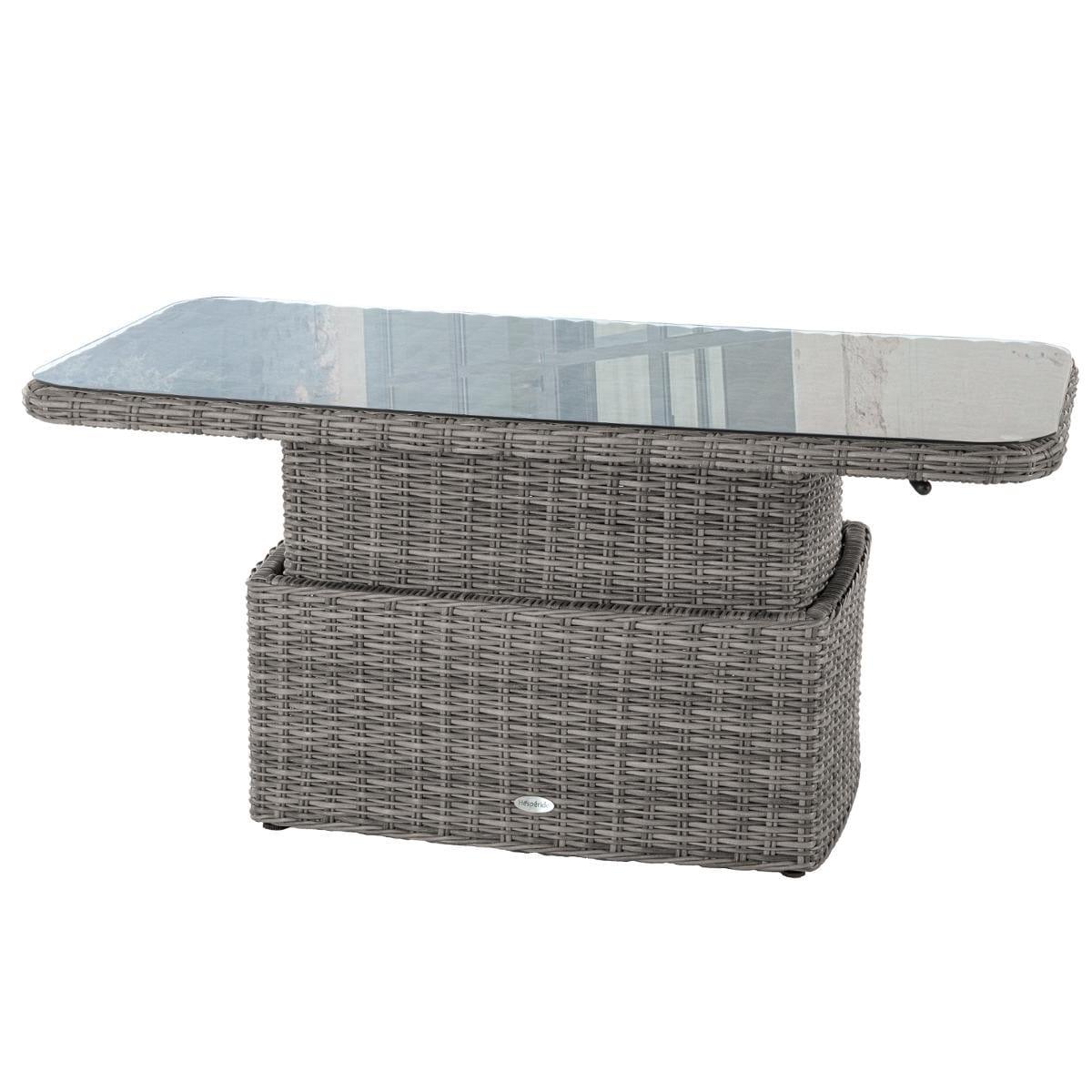 Table Basse Rectangulaire Relevable Mooréa Terre D'ombre , Hesperide pour Salon De Jardin Moorea Terre D'ombre