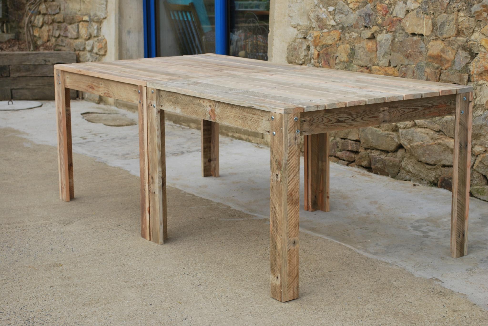 Table De Jardin En Palette - Au Bout Du Bois avec Fabriquer Une Table De Jardin En Bois