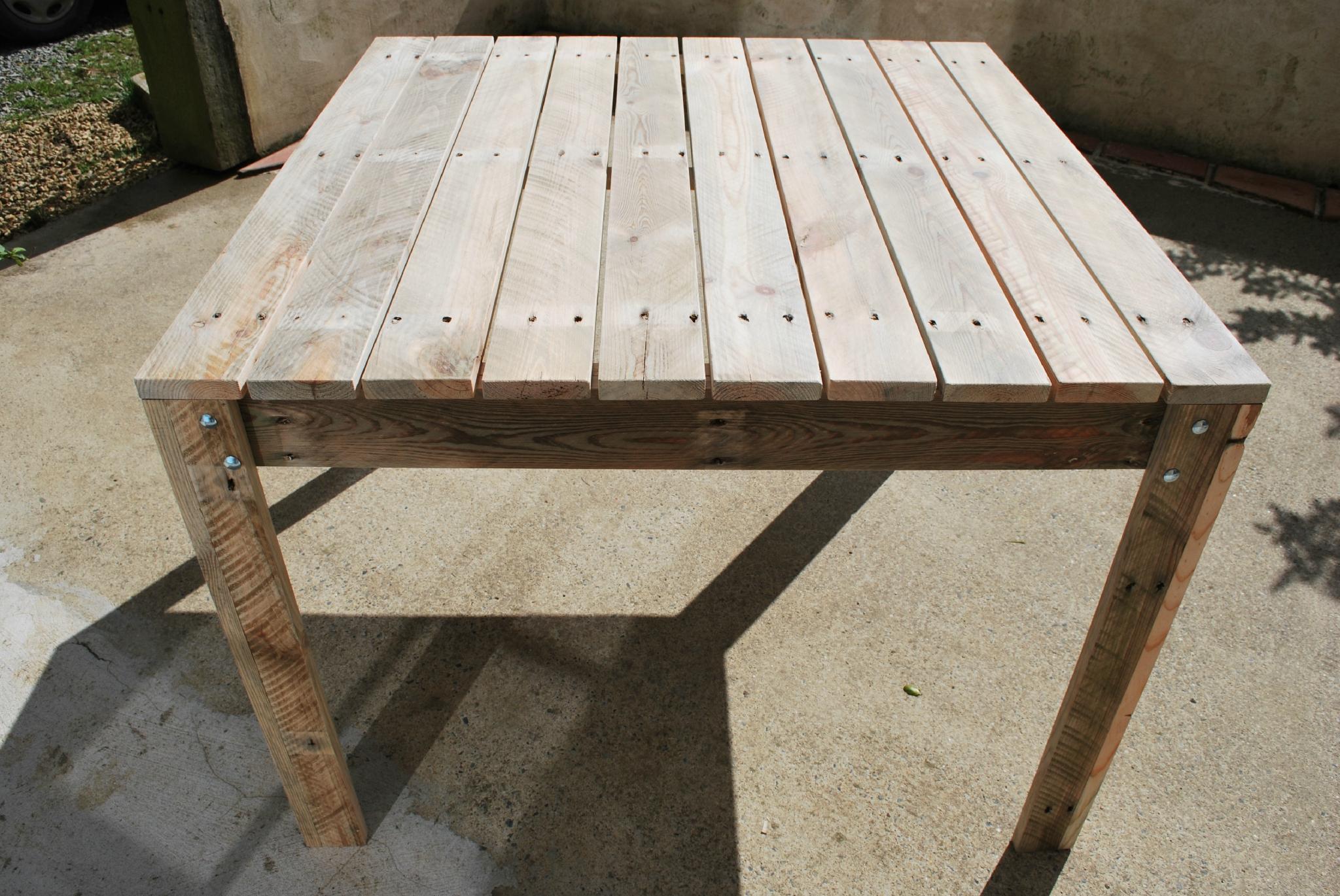 Table De Jardin En Palette - Au Bout Du Bois intérieur Fabriquer Une Table De Jardin En Bois