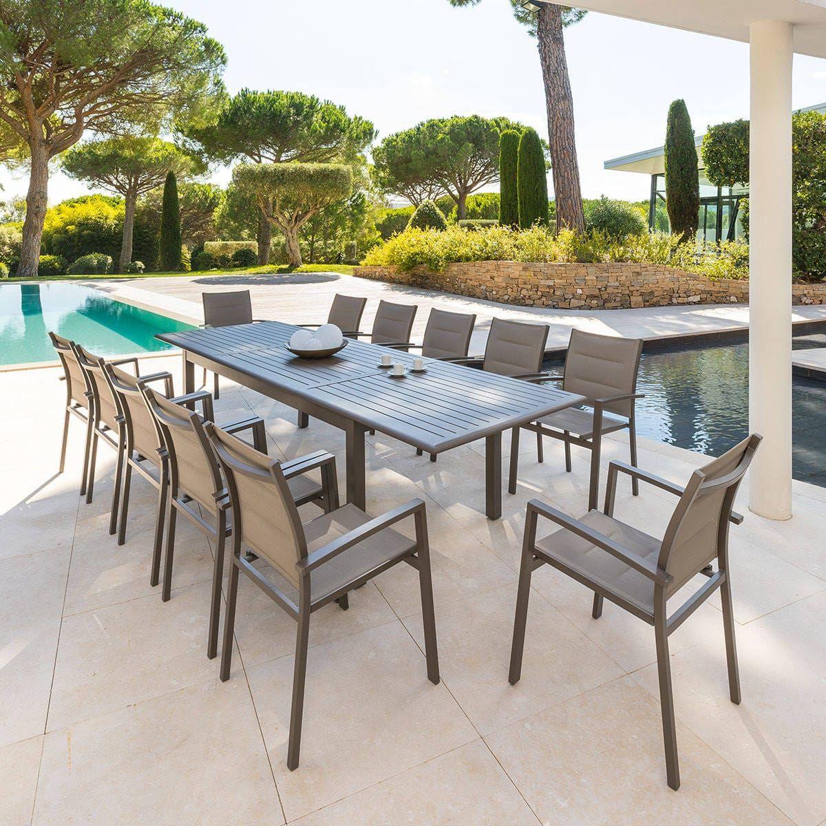 Table De Jardin Extensible Azua Tonka | Table De Jardin ... pour Salon Azua Graphite