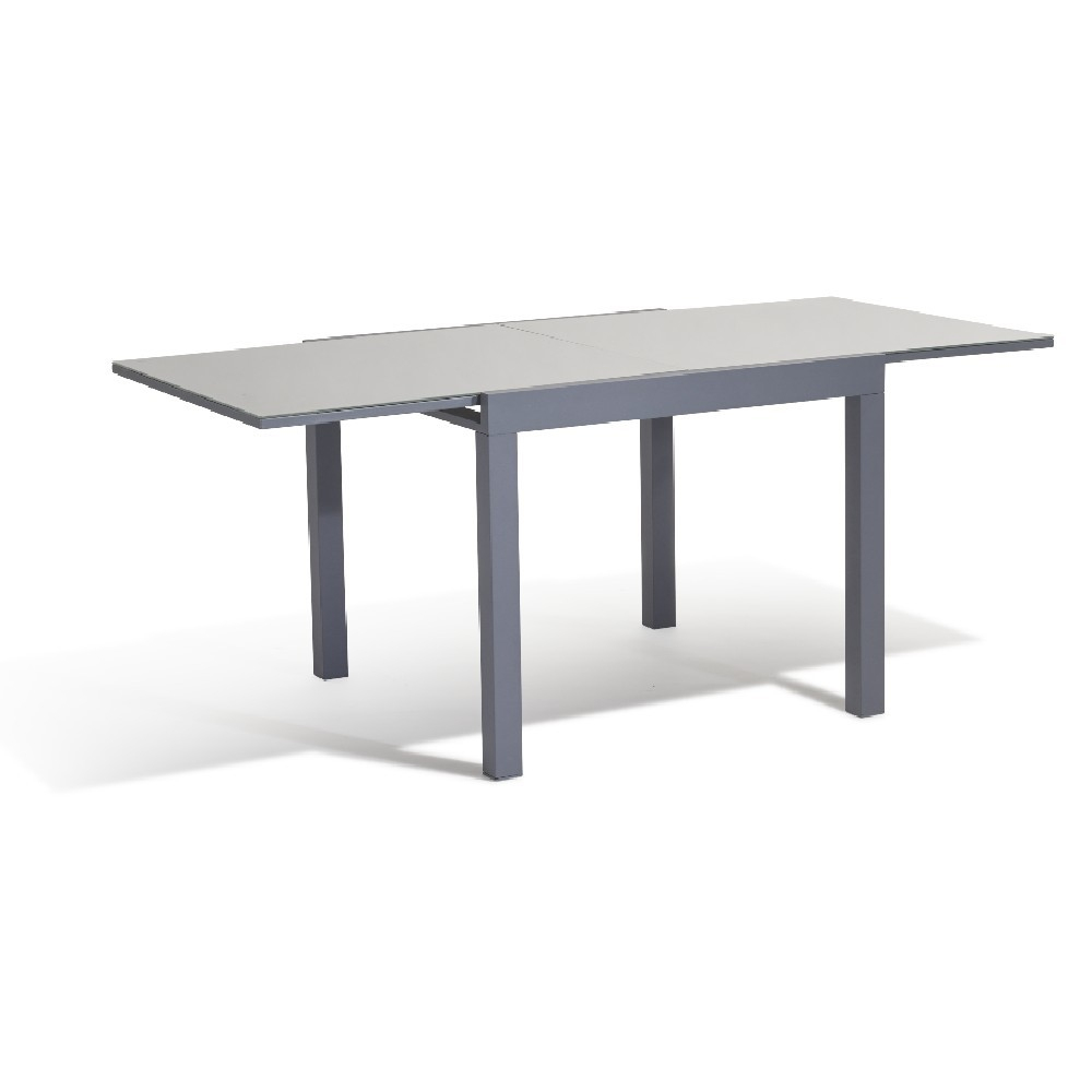 Table Extensible Oslow Gris Ardoise 4 À 8 Personnes pour Ensemble Repas Oslow Gifi