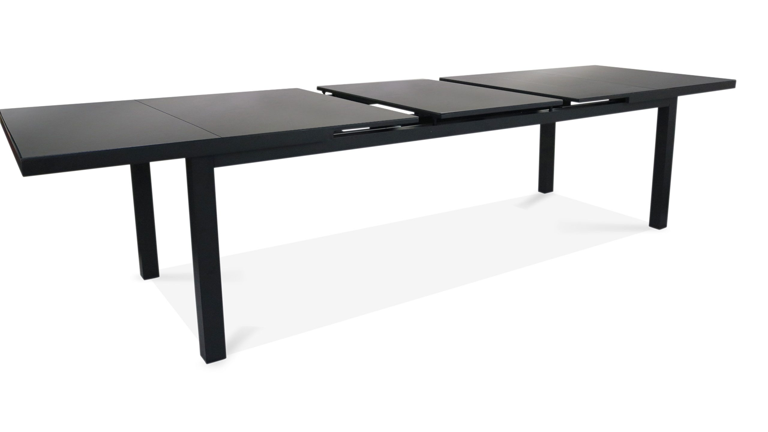 Table Jardin Extensible Rallonge Aluminium 256/320Cm 12 Places dedans Table De Jardin Extensible 320 Cm