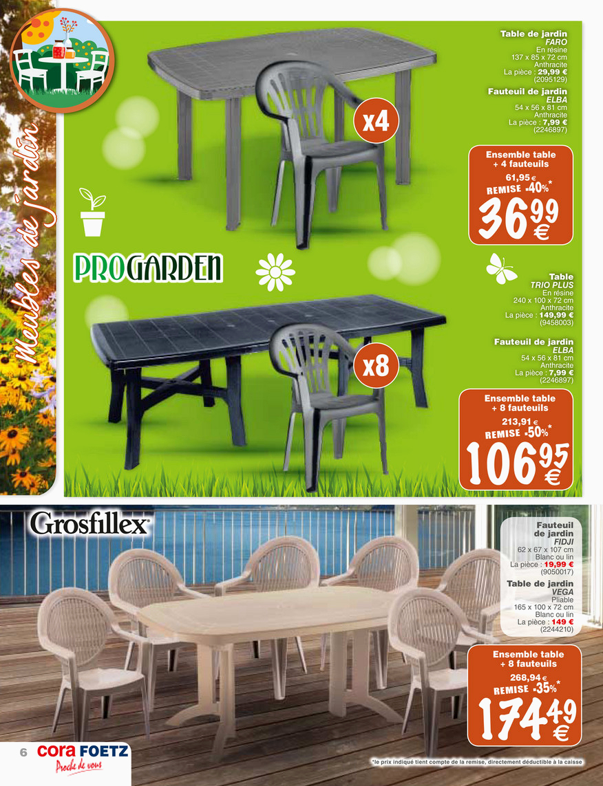 Télécharger Les Meilleures Photos Des Conception De Table De ... intérieur Table Vega Grosfillex Carrefour