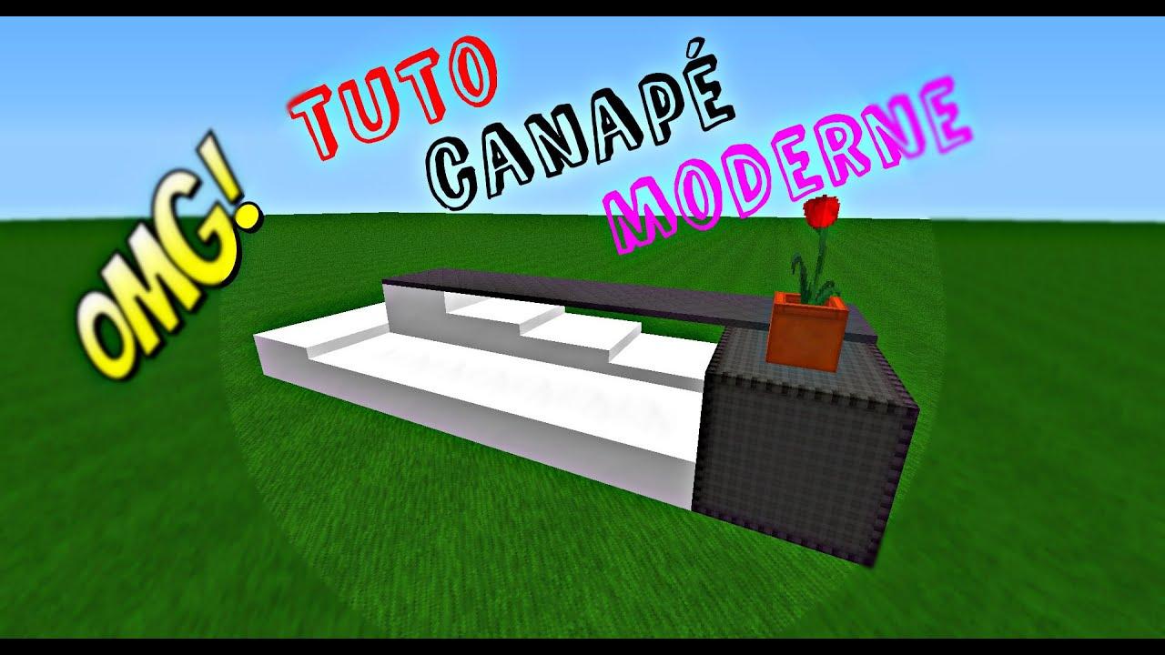 Tuto: Comment Faire Un Canapé Moderne encequiconcerne Canape Minecraft