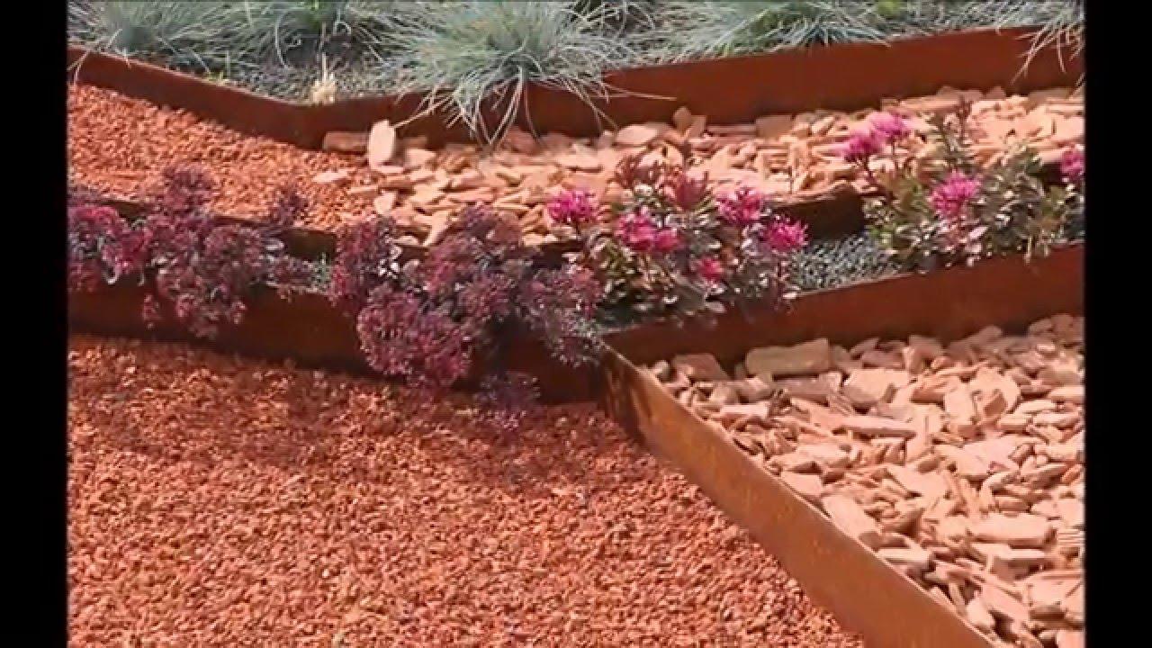 Tuto: Posez Vos Bordures De Jardin Souples Acier Corten Acier Galva Et Alu  - Apanages intérieur Bordure Acier Corten Castorama