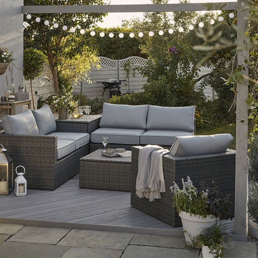 Un Salon De Jardin En Rotin, Ikea | Salon De Jardin, Coin ... serapportantà Salon De Jardin Modulable Jade