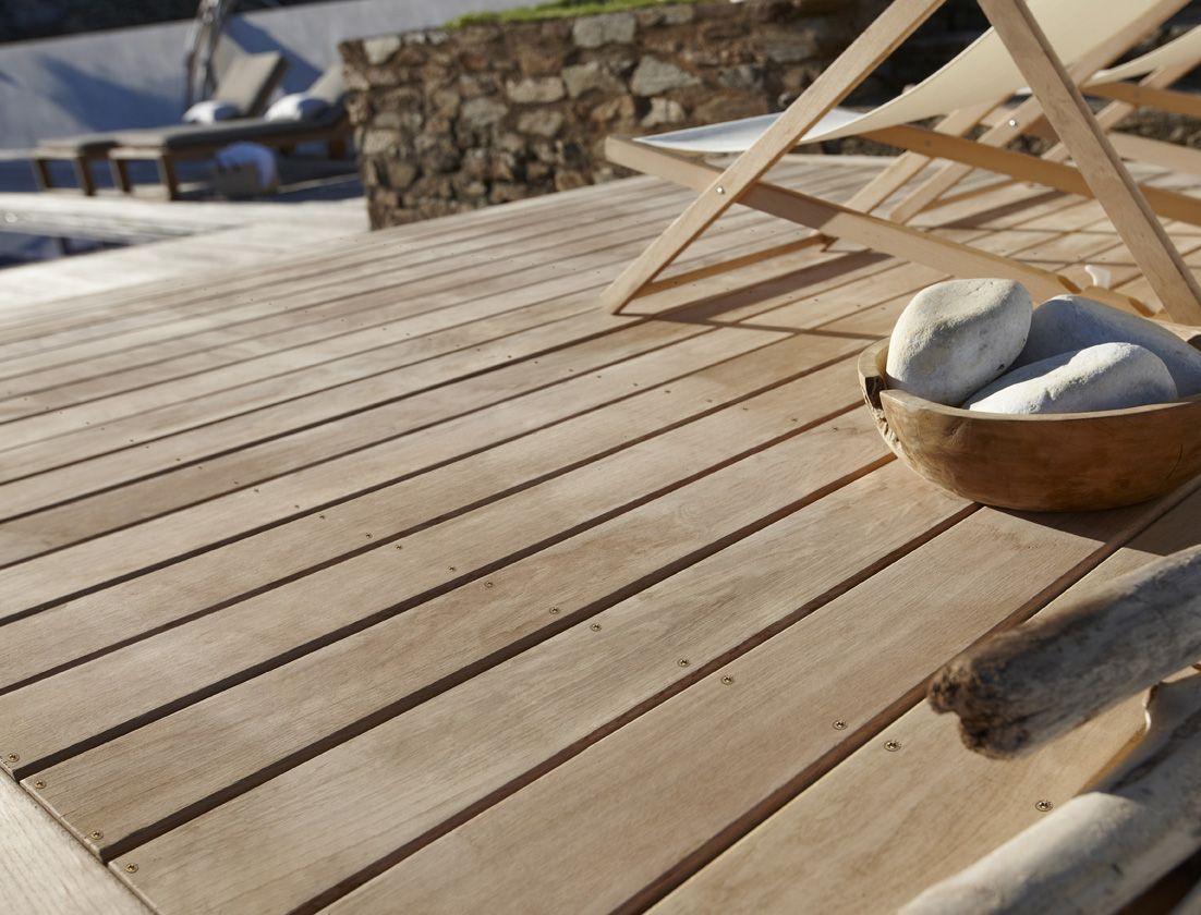 Une Terrasse En Chêne, Très Résistant ! | Plancher Bois ... intérieur Plancher Bois Terrasse Exterieur