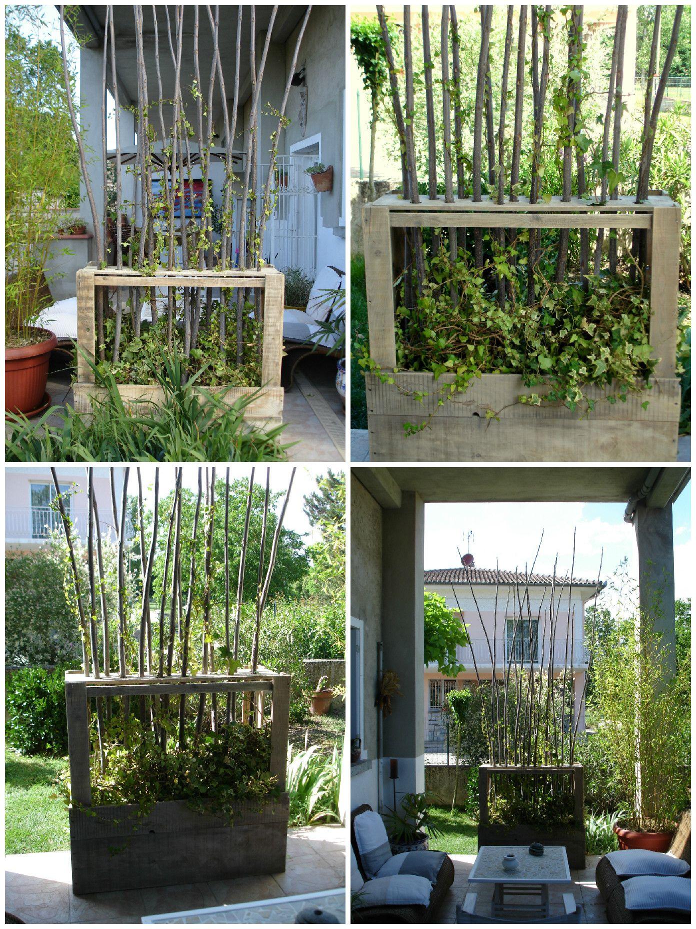 Upcycled Wooden Pallet Vegetal Fence | Barrière Jardin ...