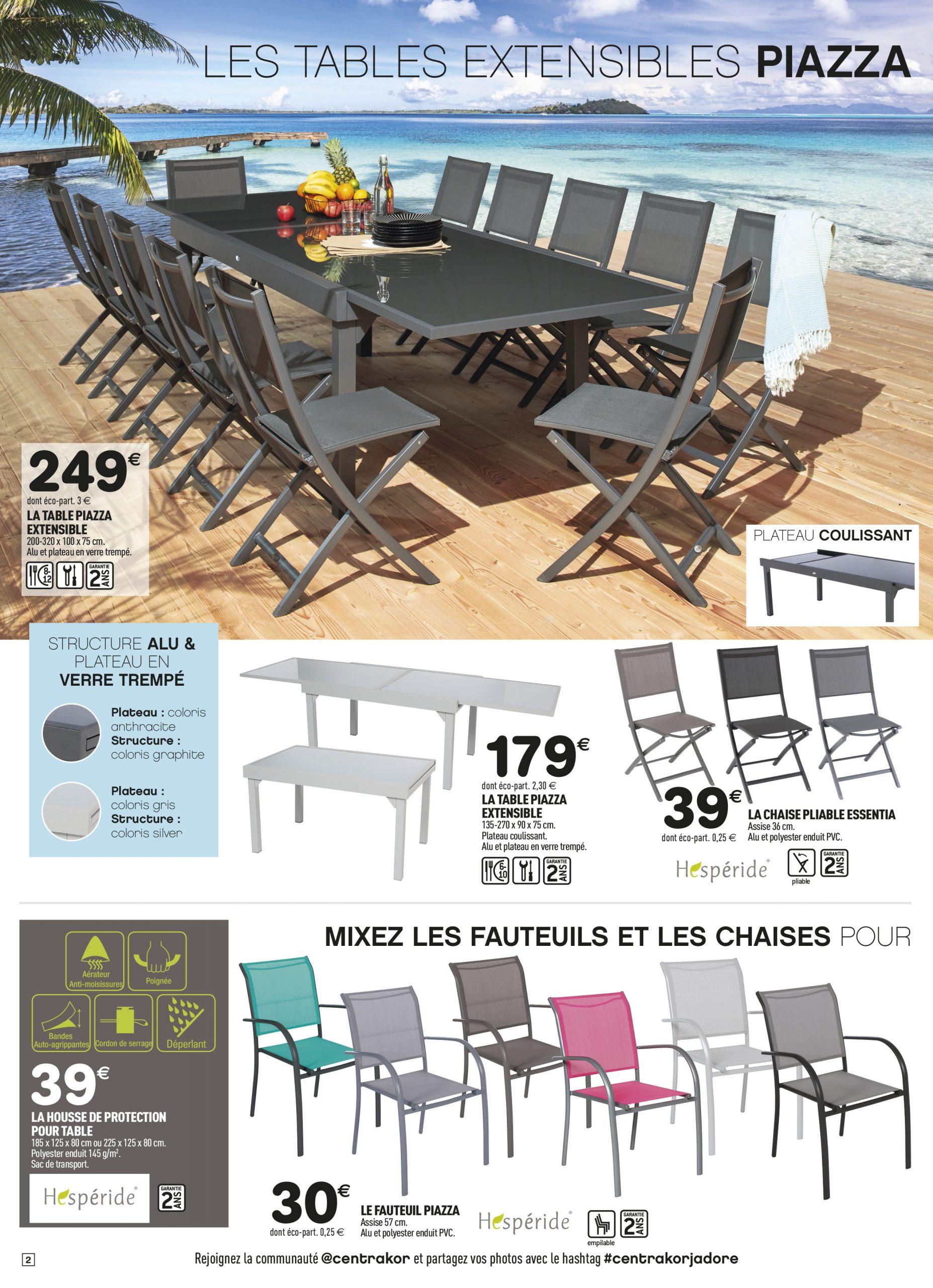 Zoom Sur Nos Tables De Jardin Extensibles. | Centrakor ... encequiconcerne Fauteuil Hesperide Piazza Centrakor